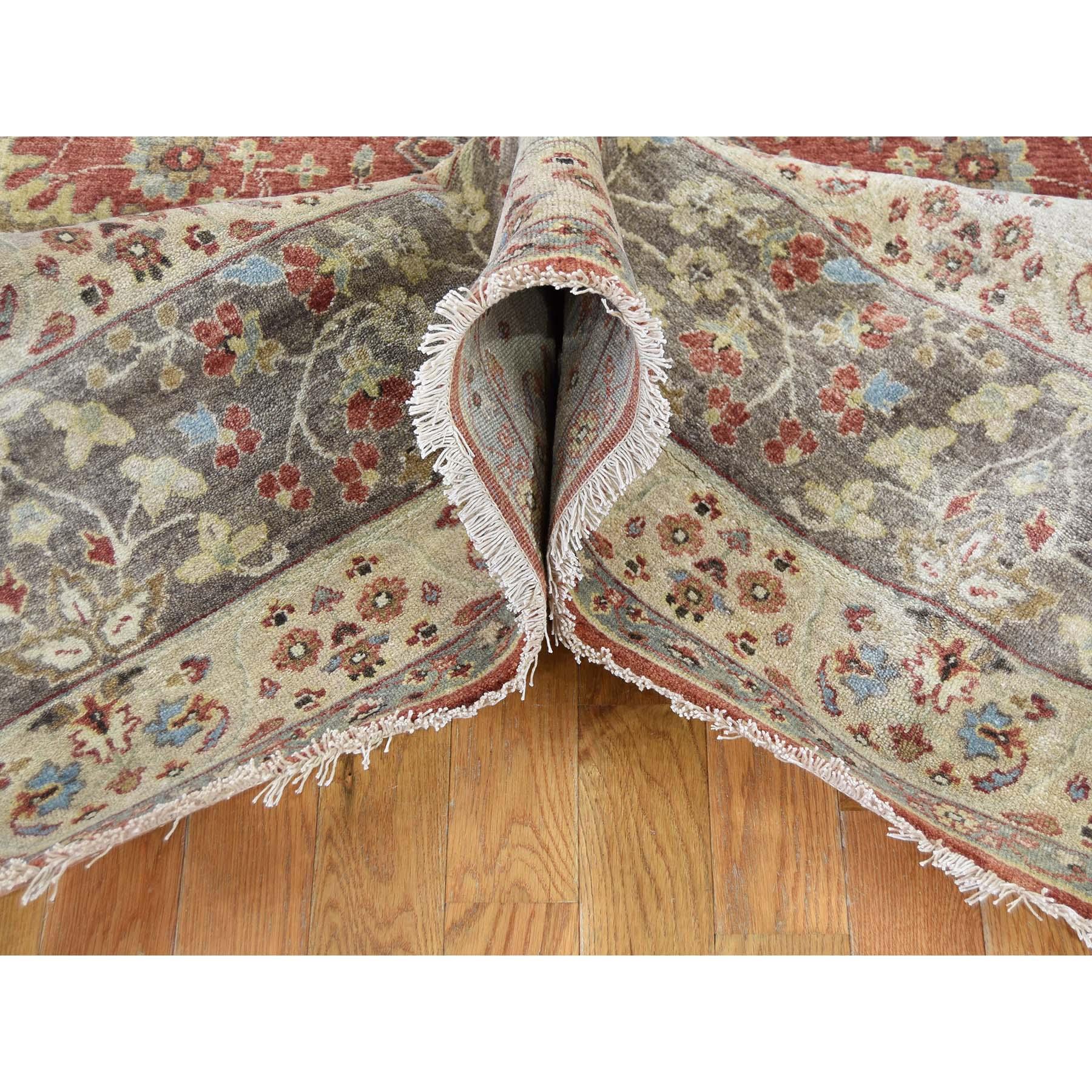 "9'2""x12' Hand-Knotted Antiqued Haji Jalili Tabriz Re-creation Pure Wool Rug"