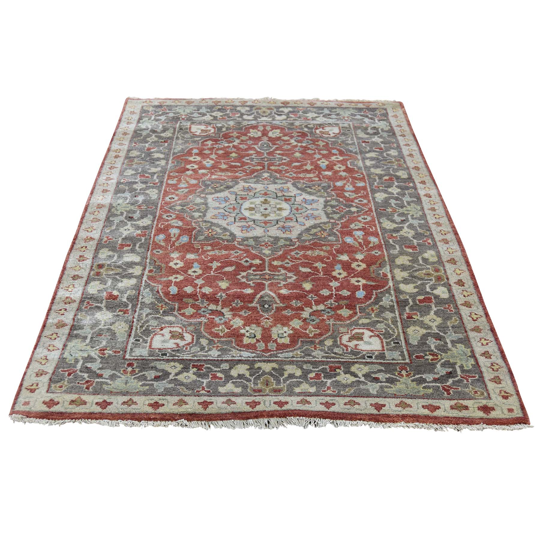 3'X5' Antiqued Haji Jalili Re-Creation Hand-Knotted Oriental Rug moad0e0d