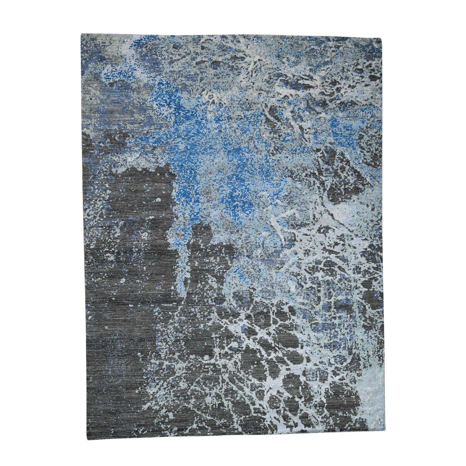 9'X12' Abstract Design Pure Wool Peshawar Hand-Knotted Oriental Rug moad0e87