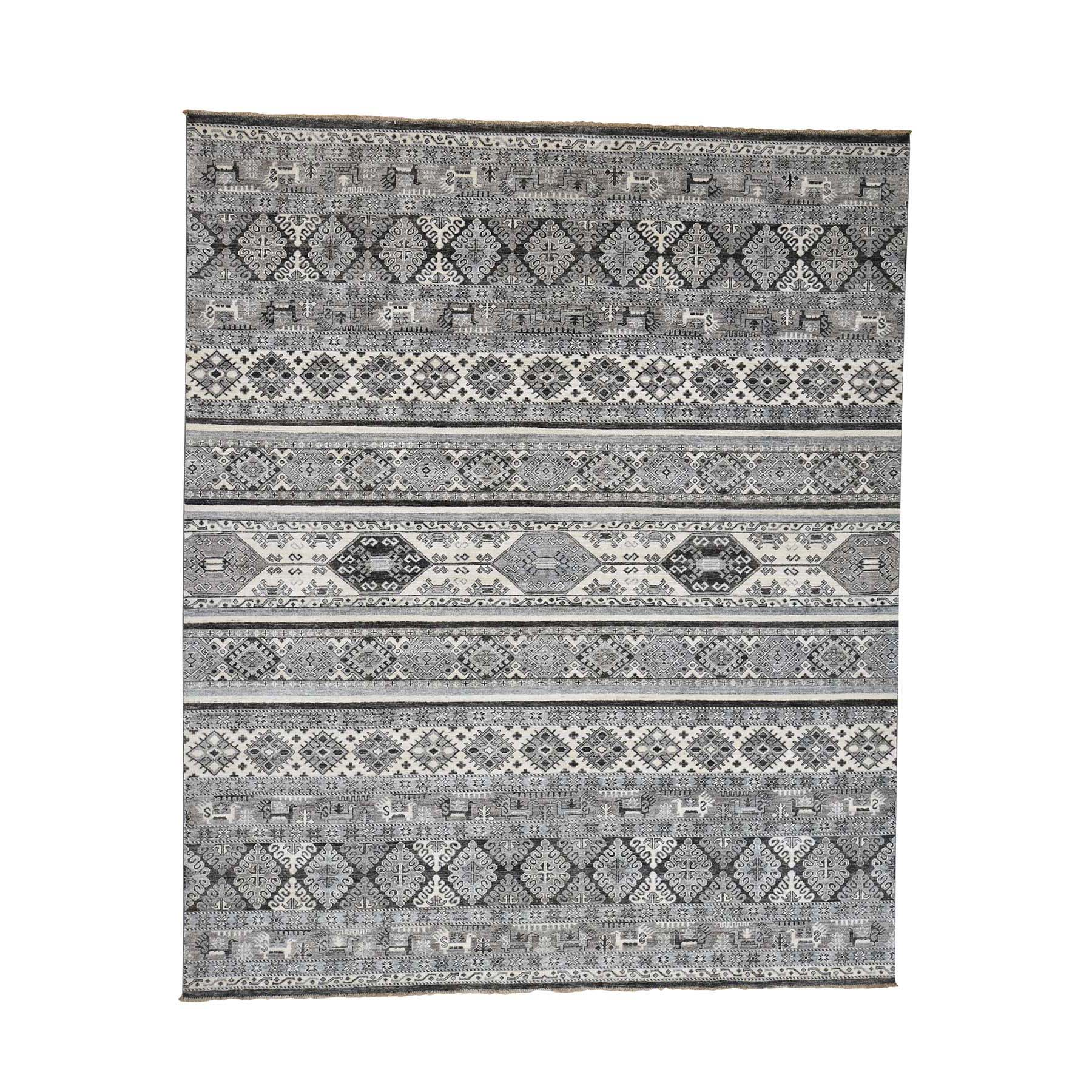 "8'4""X10' Super Kazak Khorjin Design Natural Colors Hand-Knotted Oriental Rug moad06dc"