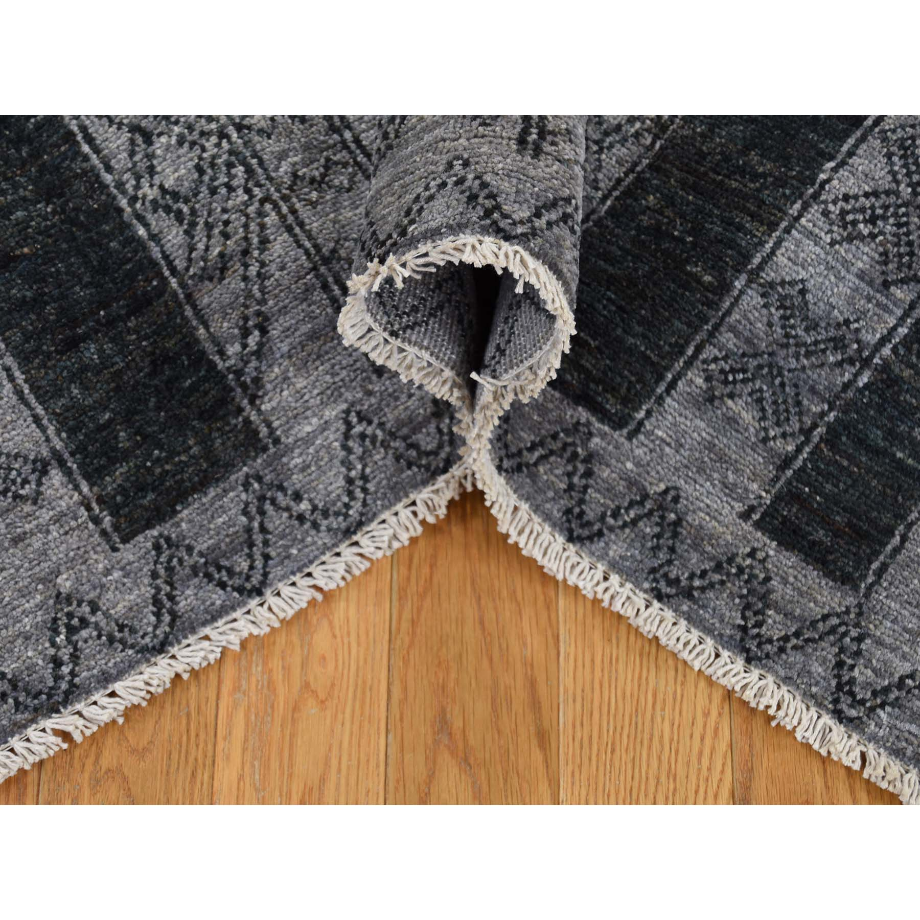 6-2 x9-2  Pure Wool Peshawar with Berber Motifs Hand-Knotted Oriental Rug