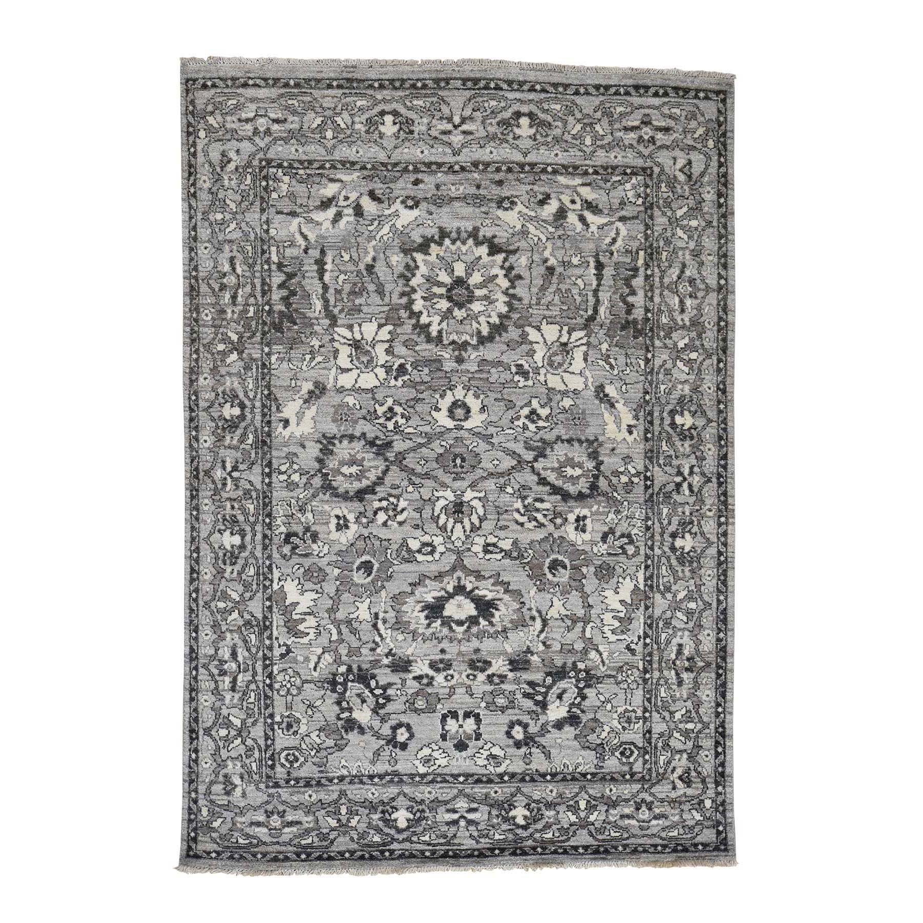 "5'1""X7'2"" Hand-Knotted Heriz With Natural Colors Oriental Rug moad06e0"