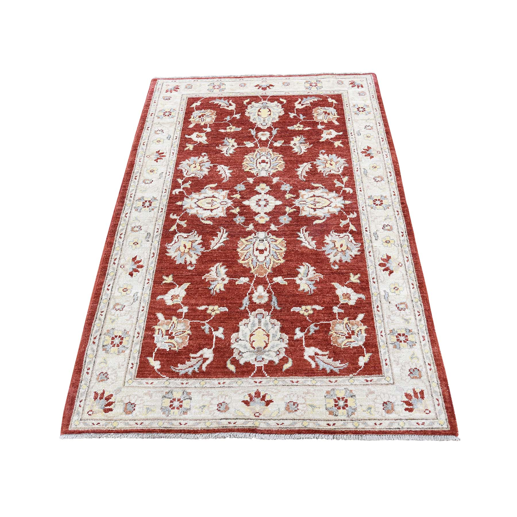 "3'1""X4'10"" Peshawar With Mahal Design Pure Wool Hand-Knotted Oriental Rug moad07be"