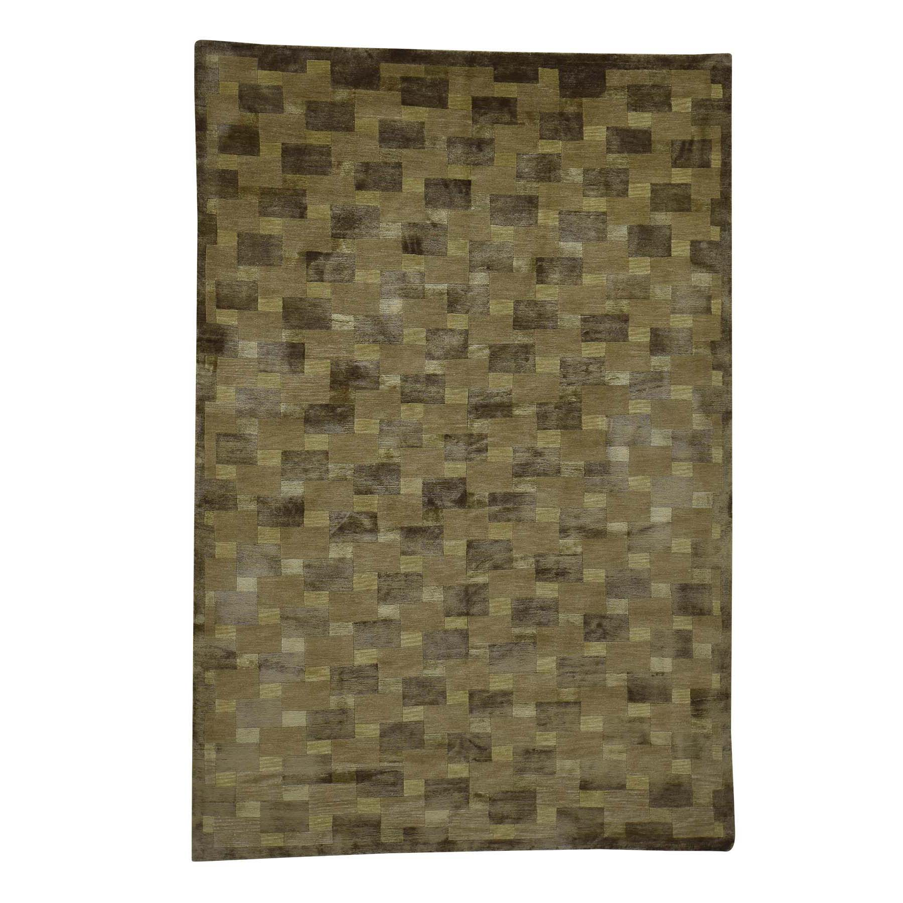"""5'7""""x8'4"""" Hand-Knotted Nepali Wool and Silk Modern Oriental Rug 40730"""