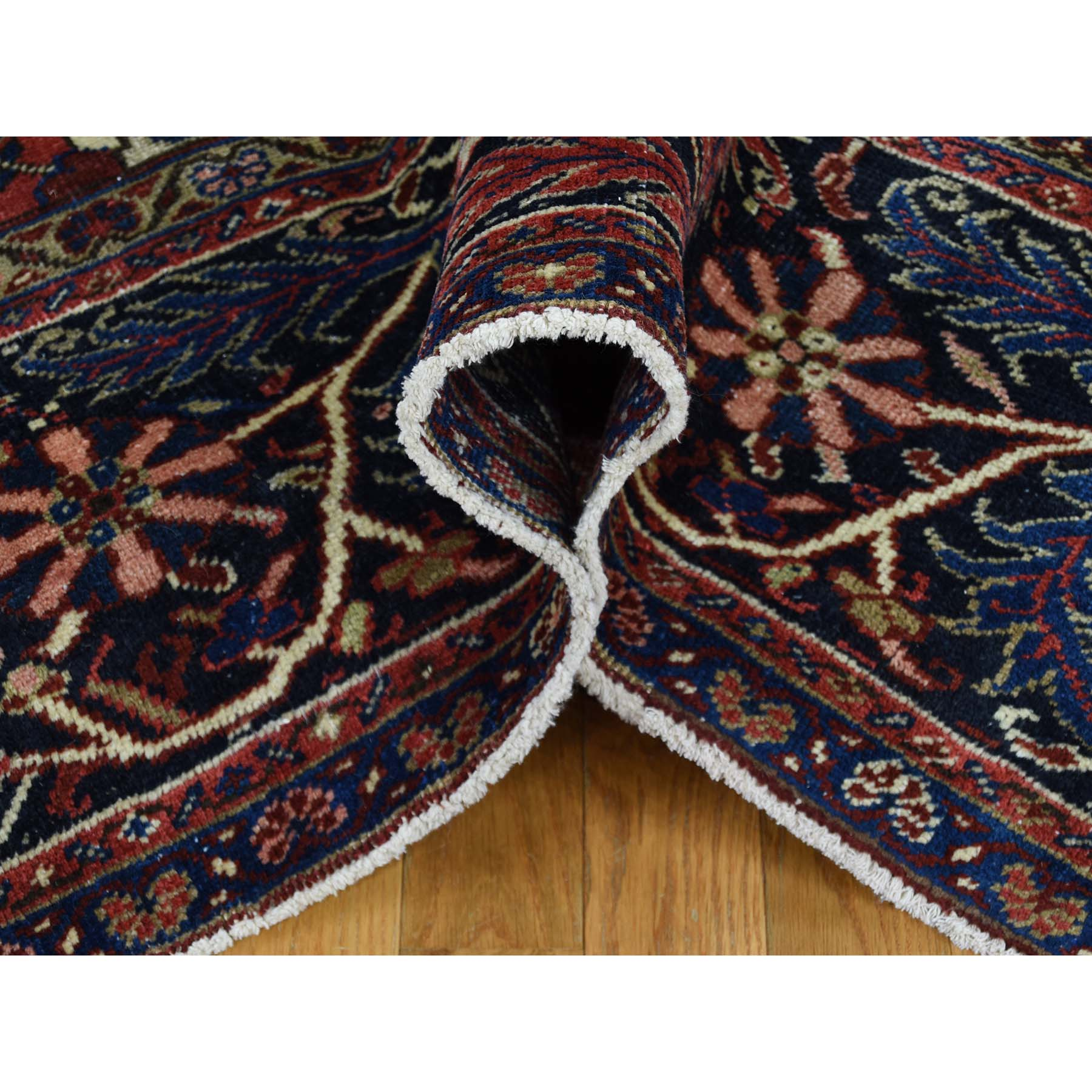 10-4 x13-3  Hand-Knotted Vintage Persian Heriz Even Wear Clean Circa 1930 Oriental Rug