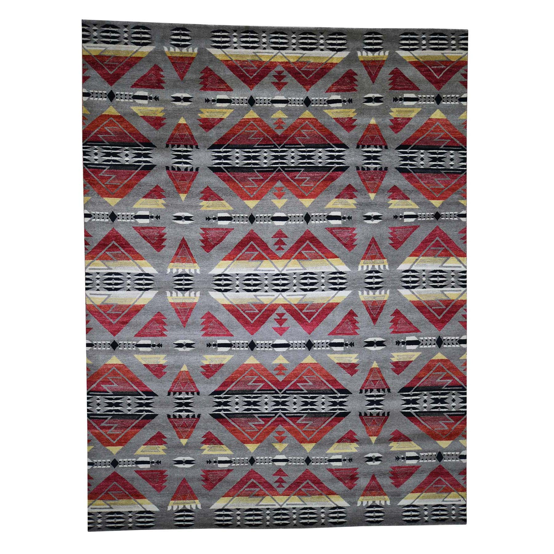 """8'10""""X11'7"""" Hand-Knotted Pure Wool Southwestern Design Oriental Rug moad080a"""