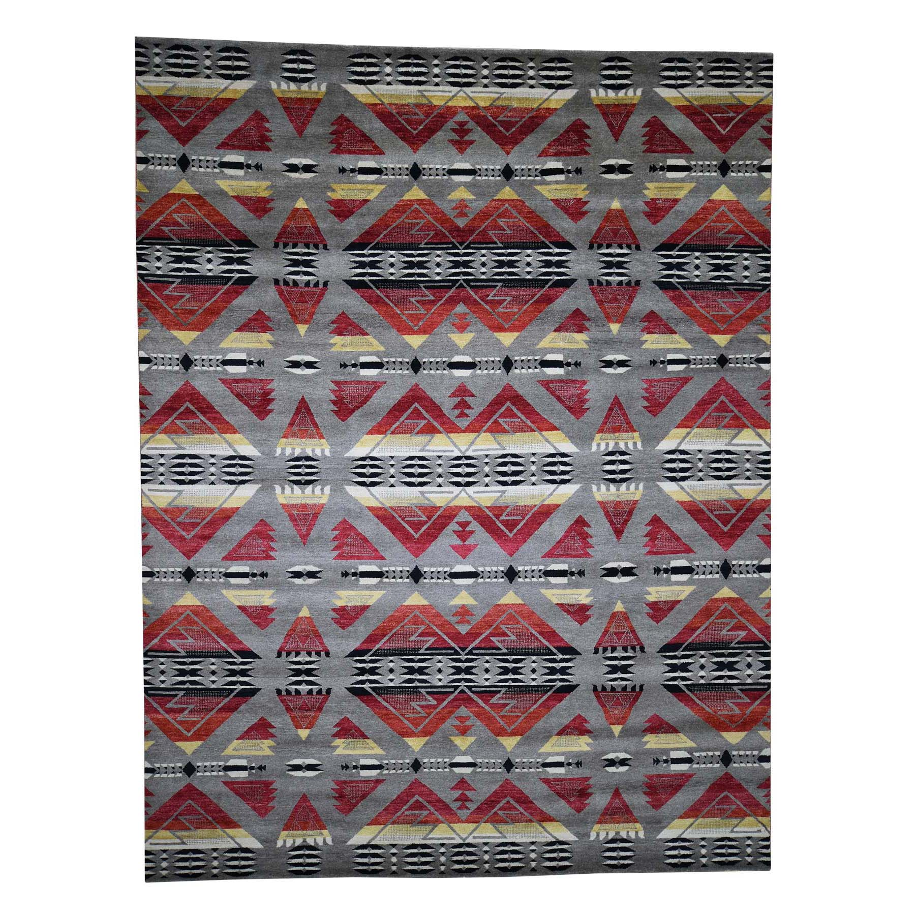 """8'10""""X12' Hand-Knotted Southwestern Design Pure Wool Oriental Rug moad080b"""