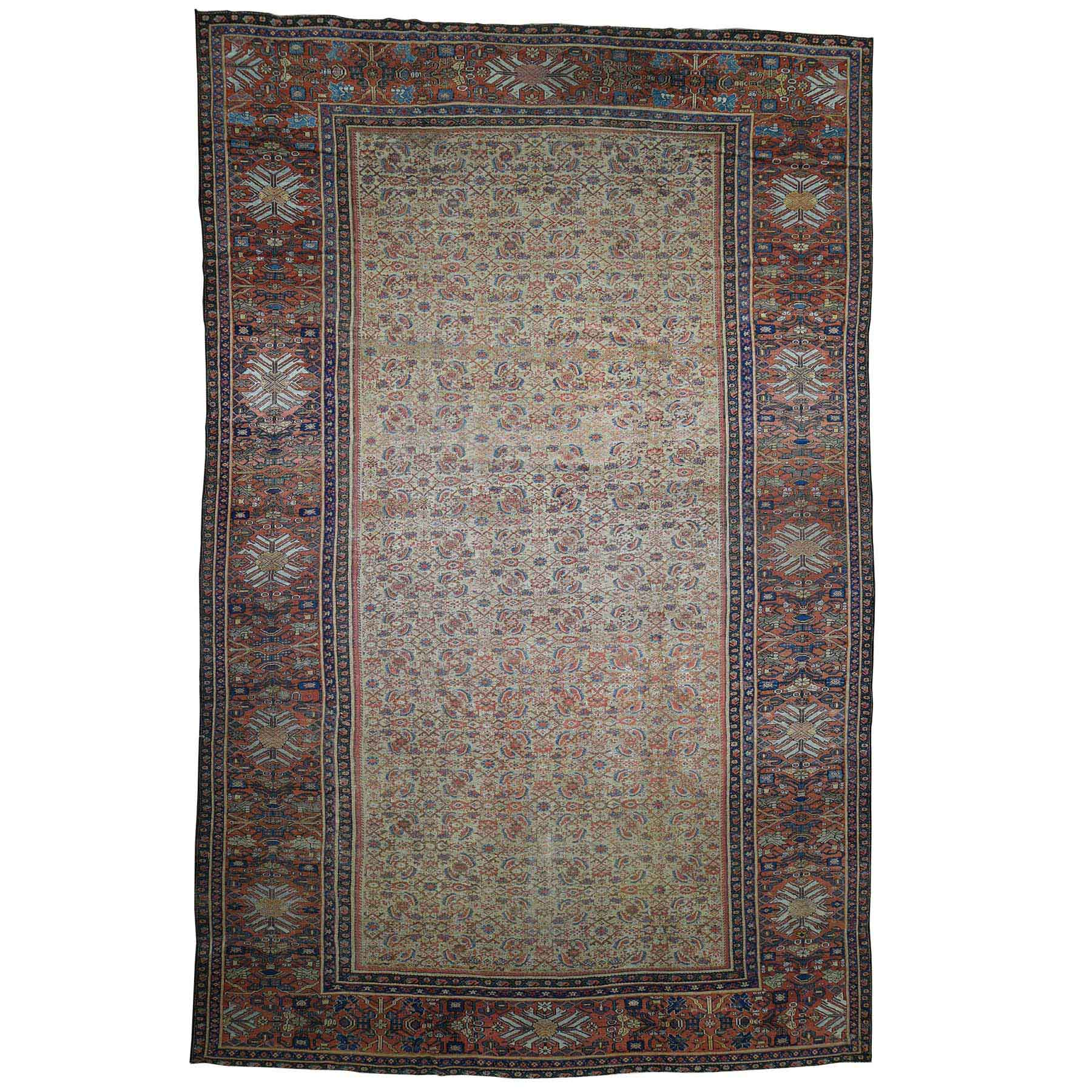 "12'X18'3"" Antique Persian Mahal Exc Cond Pure Wool Hand-Knotted Oversized Rug moad08a7"