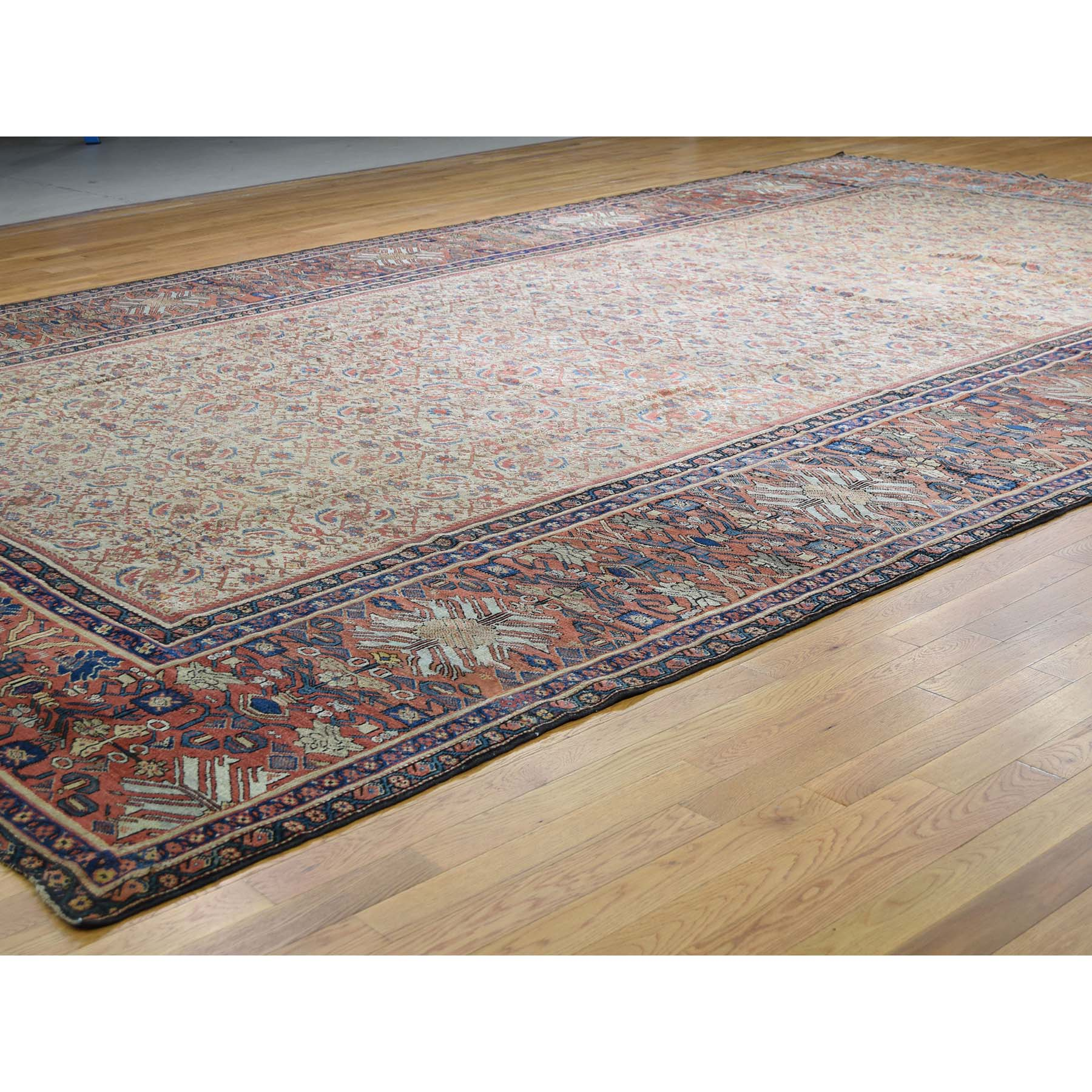 12-x18-3  Antique Persian Mahal Exc Cond Pure Wool Hand-Knotted Oversized Rug