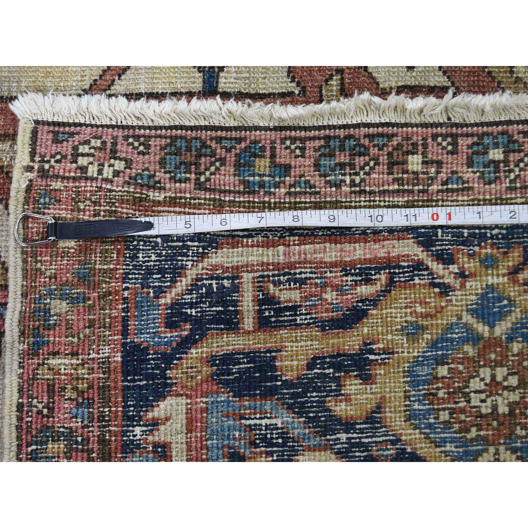 10-1 x12-8  Antique Persian Serapi Exc Cond Pure Wool Hand-Knotted Oriental Rug