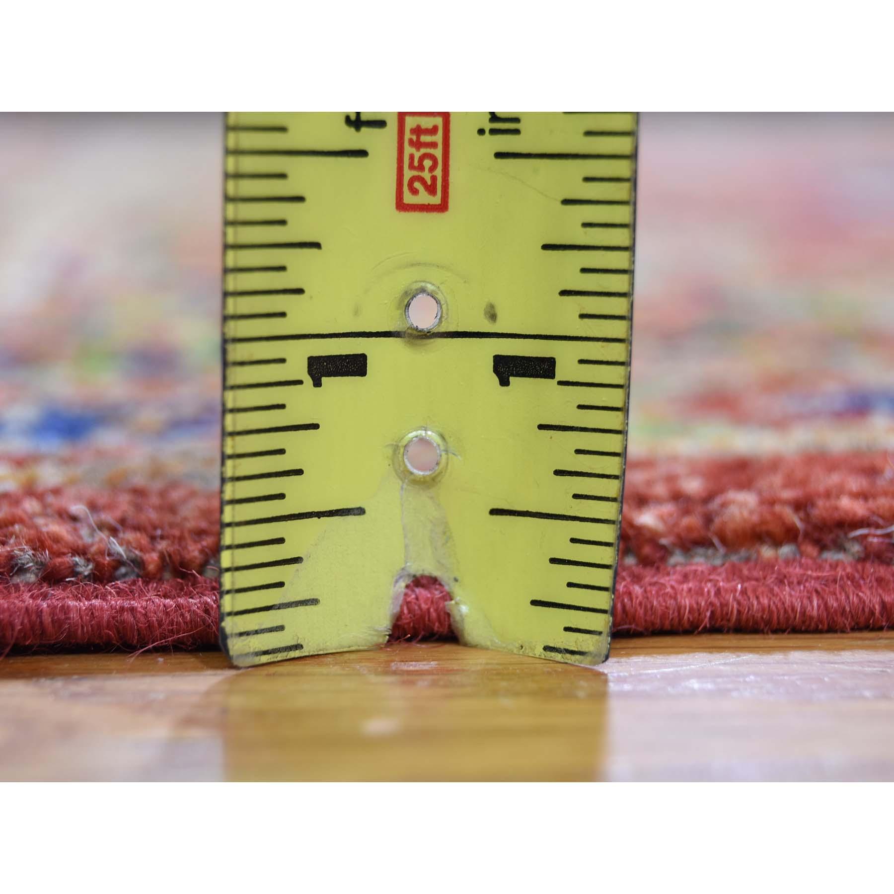 4-1 x6-2  Pure Wool Afghan Ersari Elephant Feet Design Hand-Knotted Oriental Rug