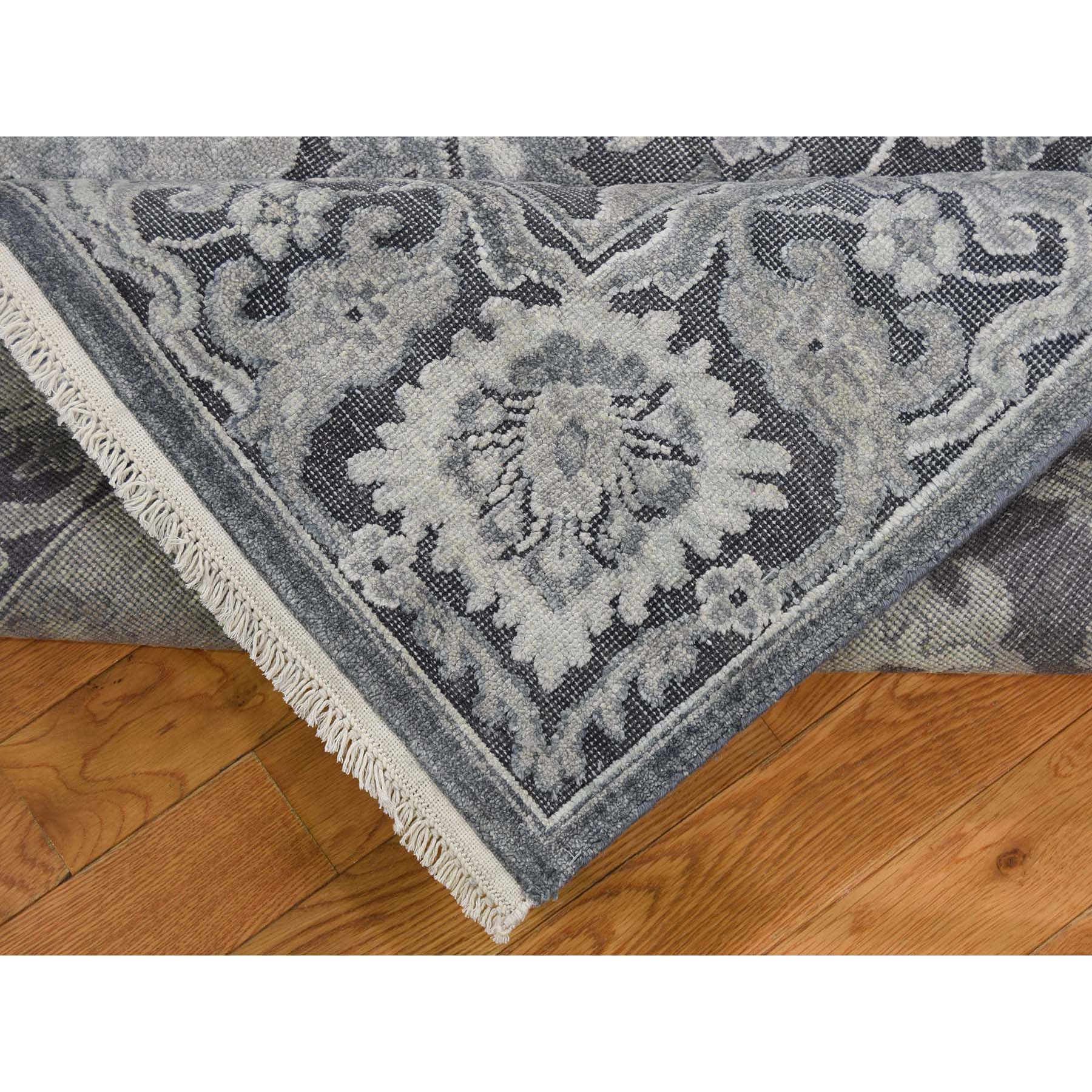 8-10 x12- Hand-Knotted Oushak Influence Silk with Oxidized Wool Oriental Rug