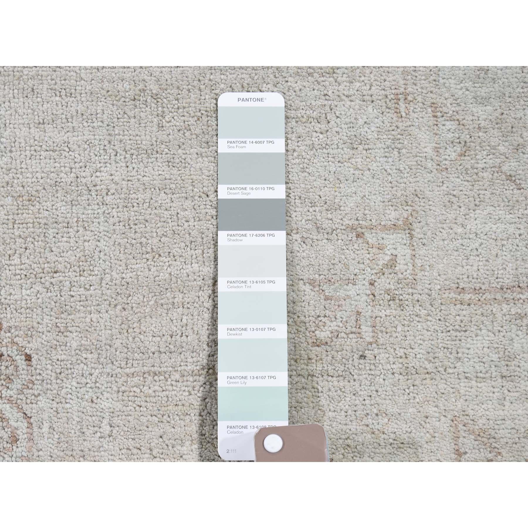 9-x12- Silver Wash Peshawar Hand-Knotted Oriental Rug