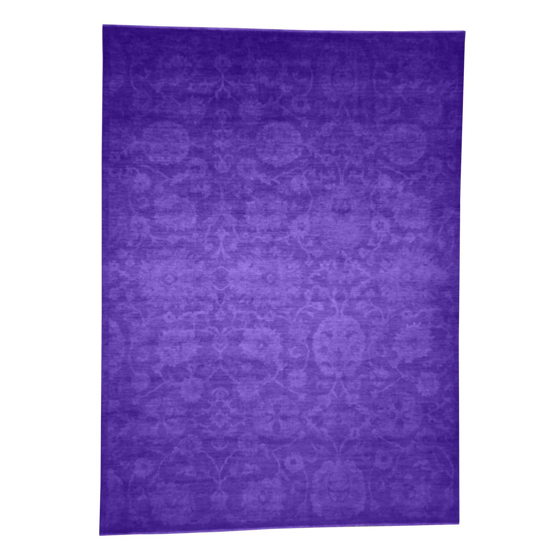 "10'2""X14' Hand Knotted Overdyed Peshawar With Mahal Design Purple Oriental Rug moad097d"