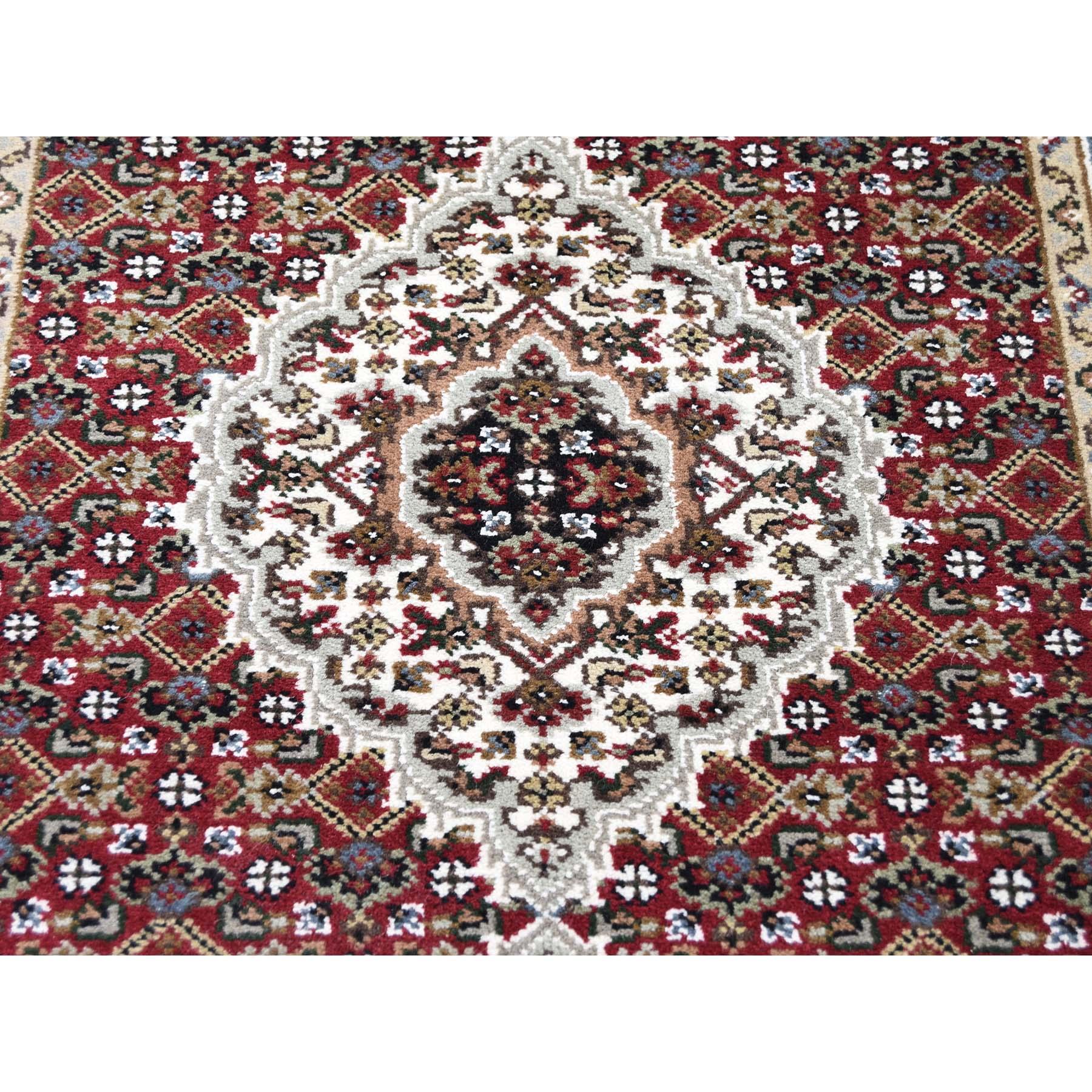 2-7 x23-7   Wool and Silk Tabriz Mahi Hand-Knotted XL Runner Rug