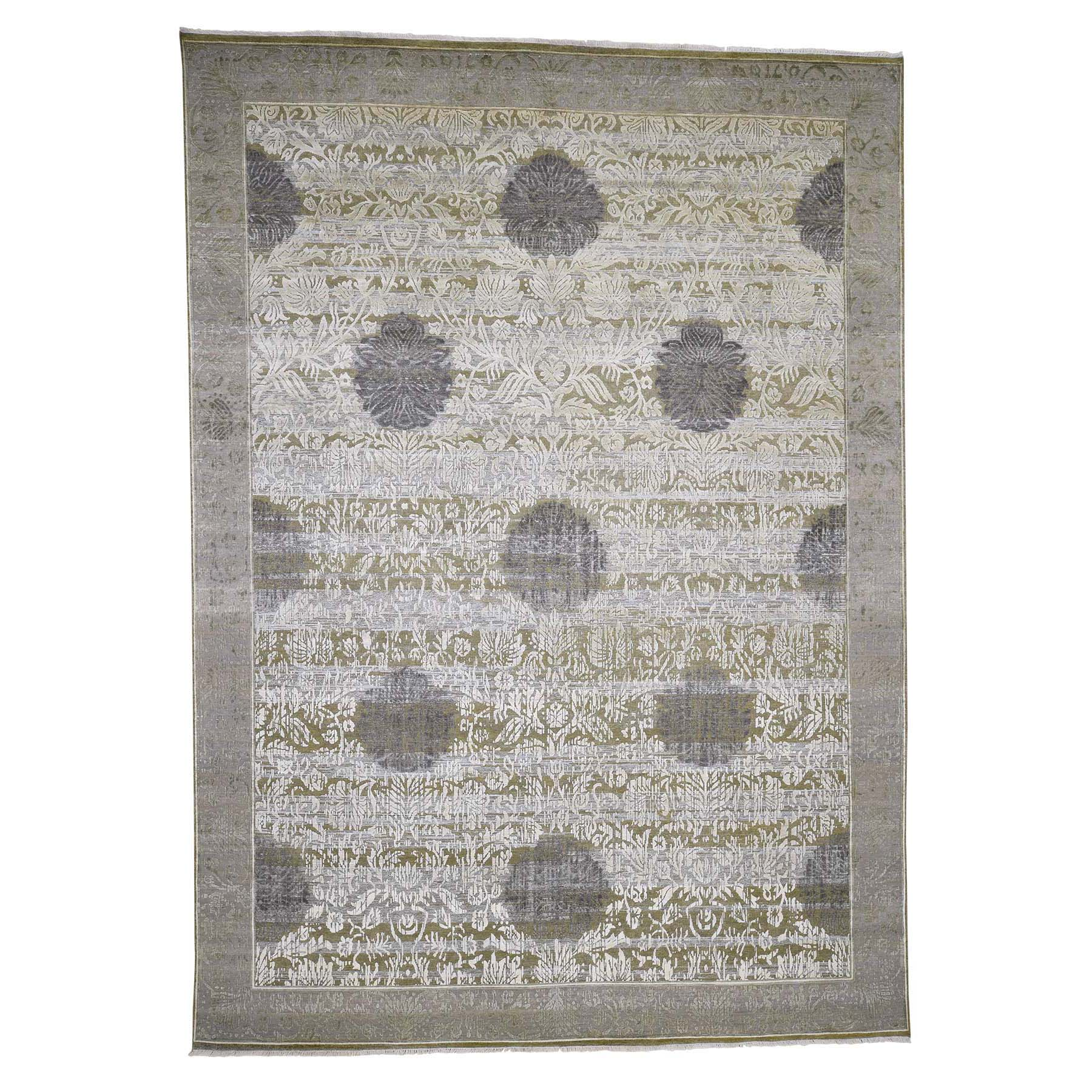 "8'9""x12'1"" Silk With Textured Wool Hand-Knotted Oriental Rug"