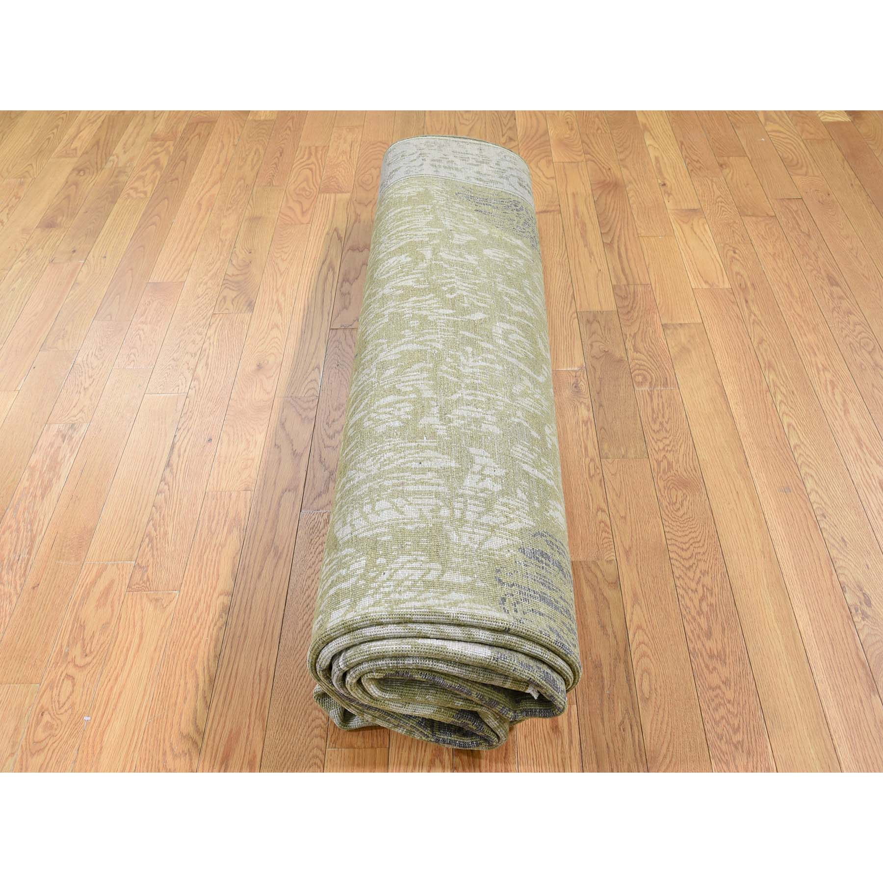 8-9 x12-1  Silk With Oxidized Wool Textured Hand-Knotted Oriental Rug