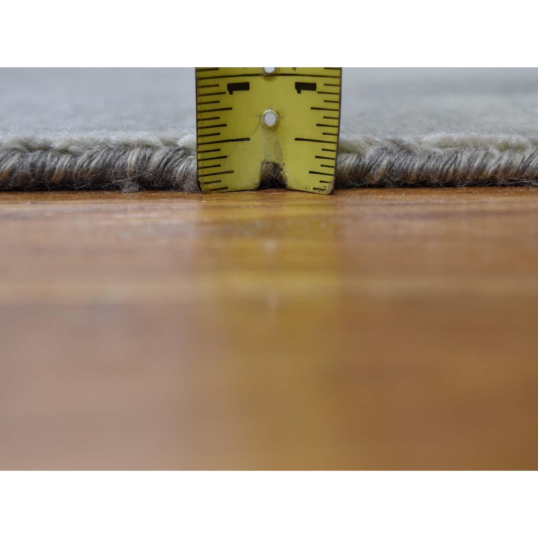 9-1 x12- Wool and Silk Tabriz Broken Design Oriental Rug Hand Knotted