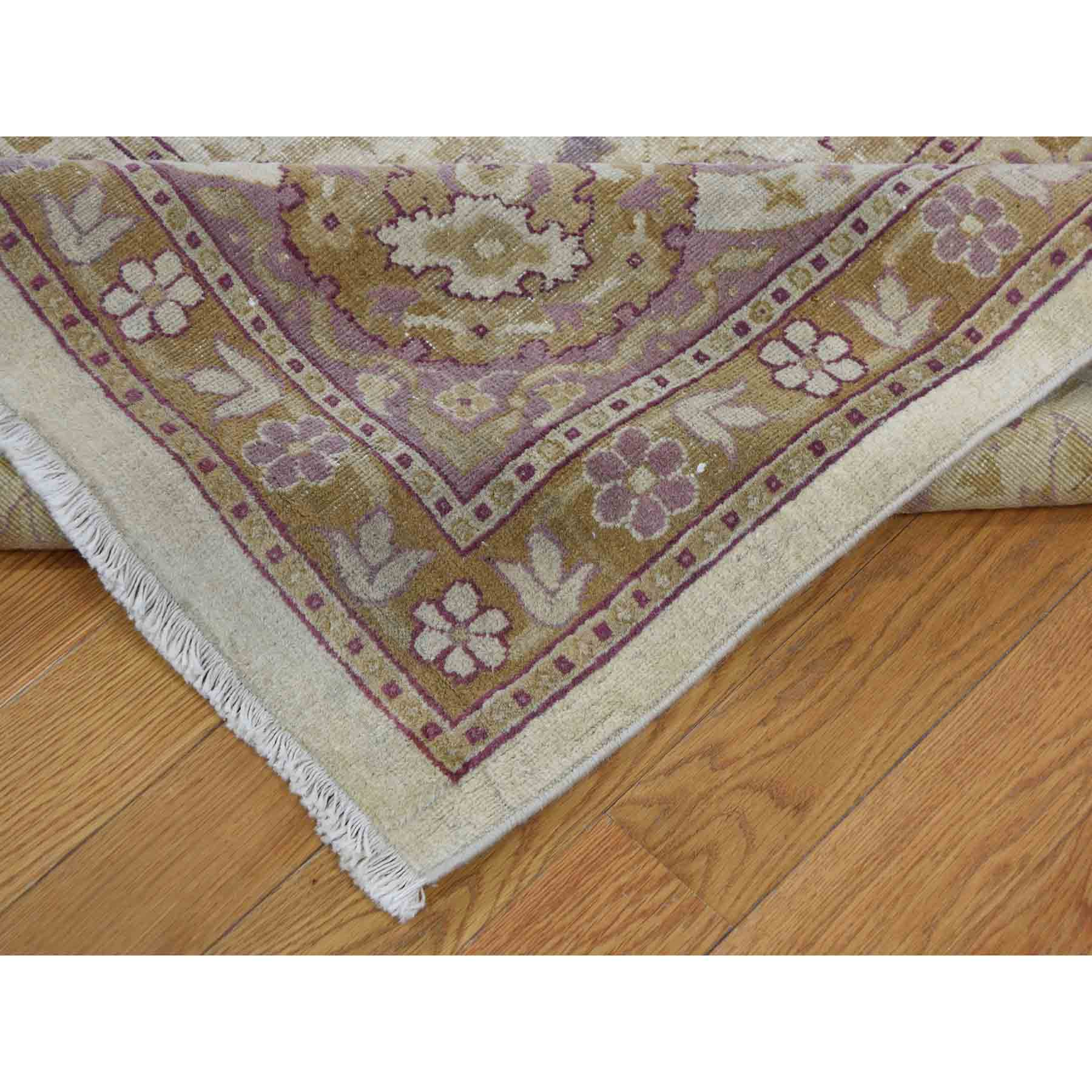 10-7 x16-4  Antique Mughal Amritsar Good Condition Even Wear Hand-Knotted Oriental Oversize Rug
