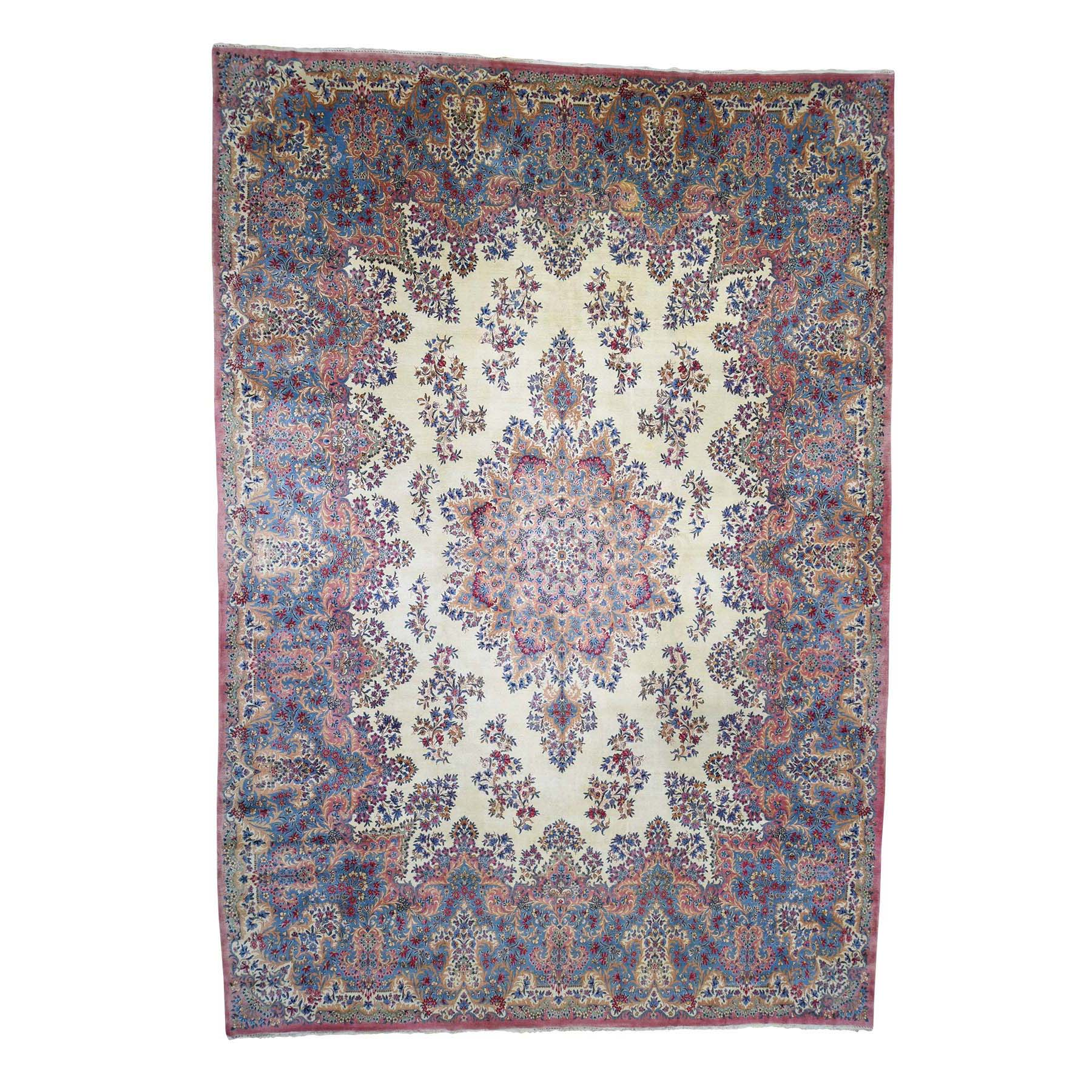 "11'4""X16'9"" Semi Antique Persian Kerman Mint Condition Full Pile Soft Oversize Oriental Rug moadaa86"