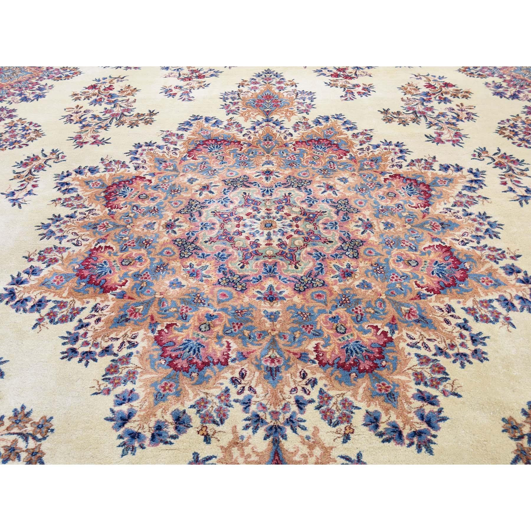11-4 x16-9  Semi Antique Persian Kerman Mint Condition Full Pile Soft Oversize Oriental Rug