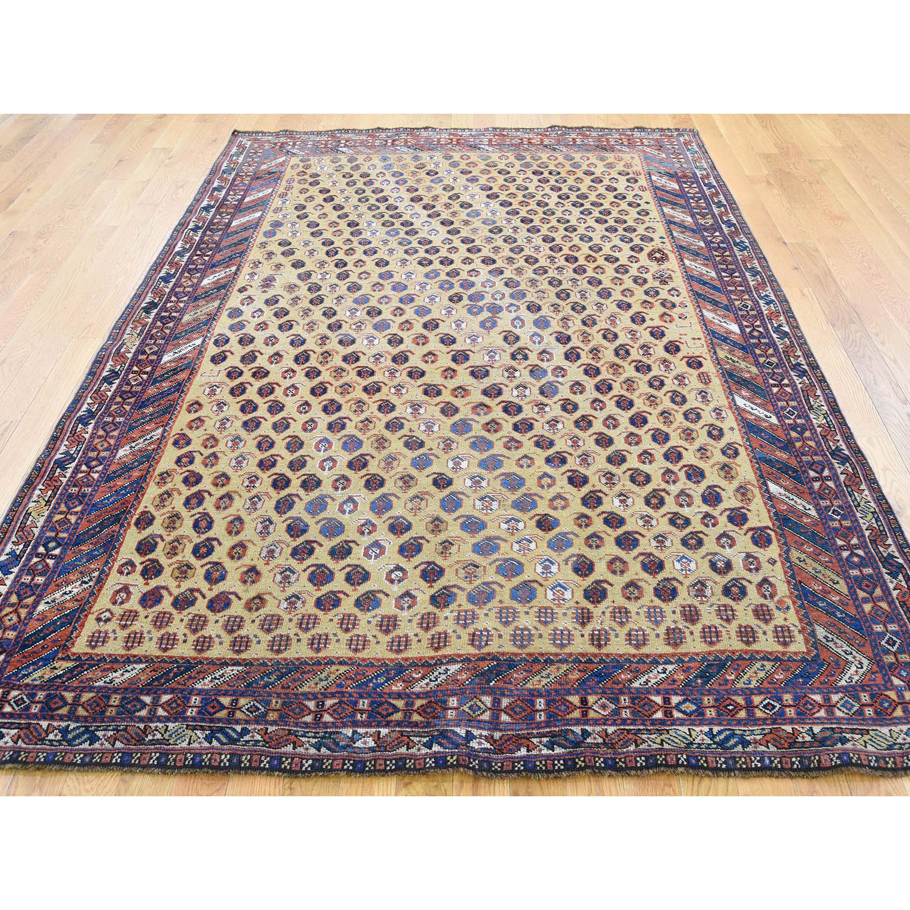 5-9 x7-10  Antique Persian Afshar Even Wear Good Condition Hand-Knotted Oriental Rug