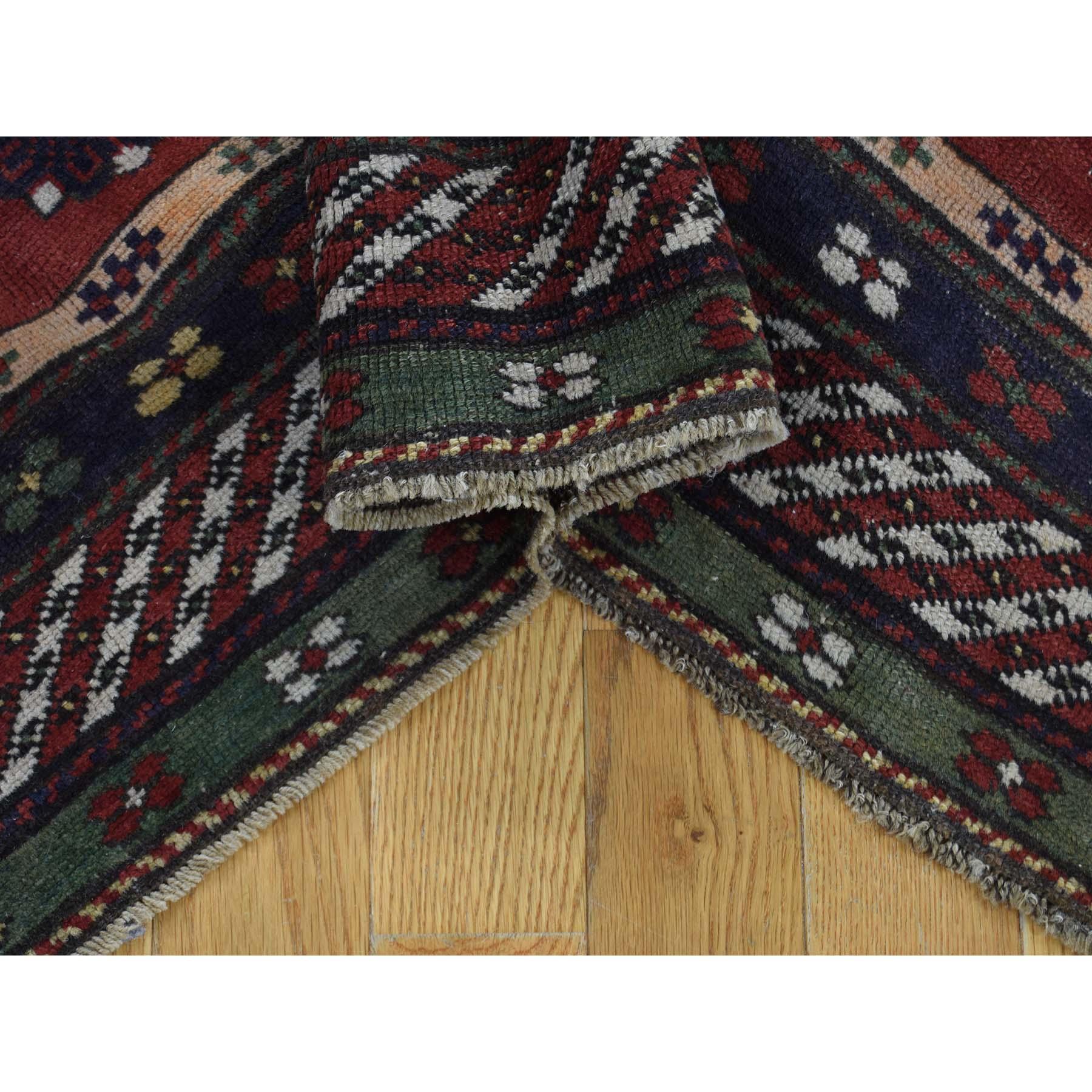 5-9 x8-5  Antique Caucasian Kazak Good Condition Hand Knotted Rug