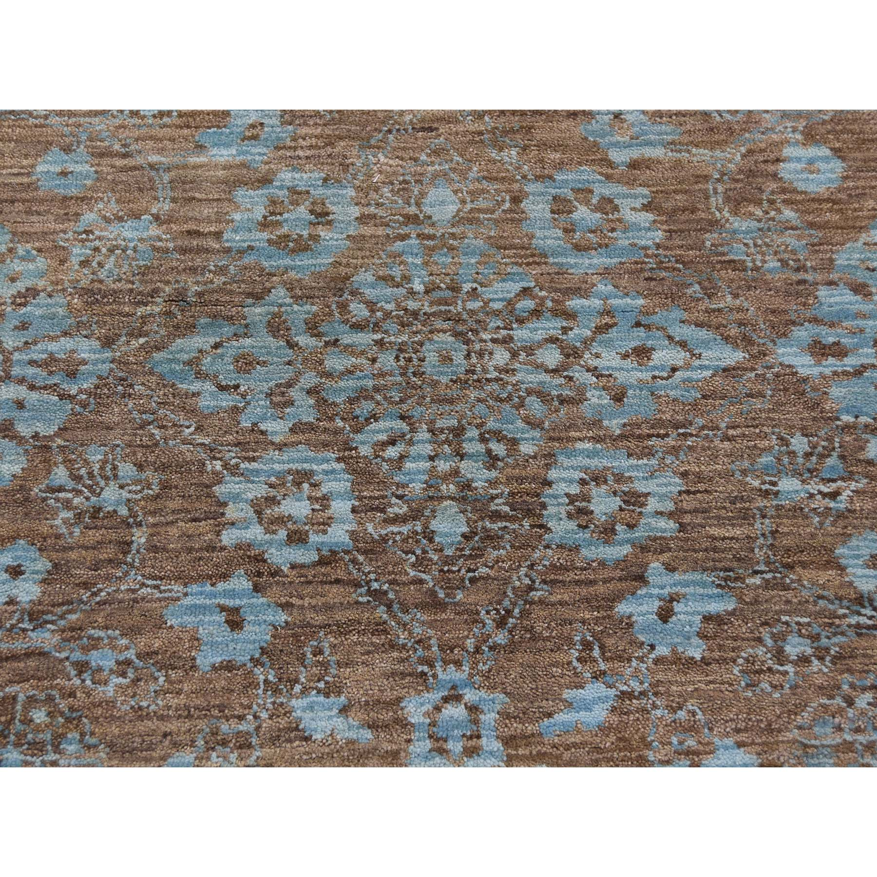 9-x12-10  Modern Broken Pattern Transitional Design Hand Knotted Oriental Rug