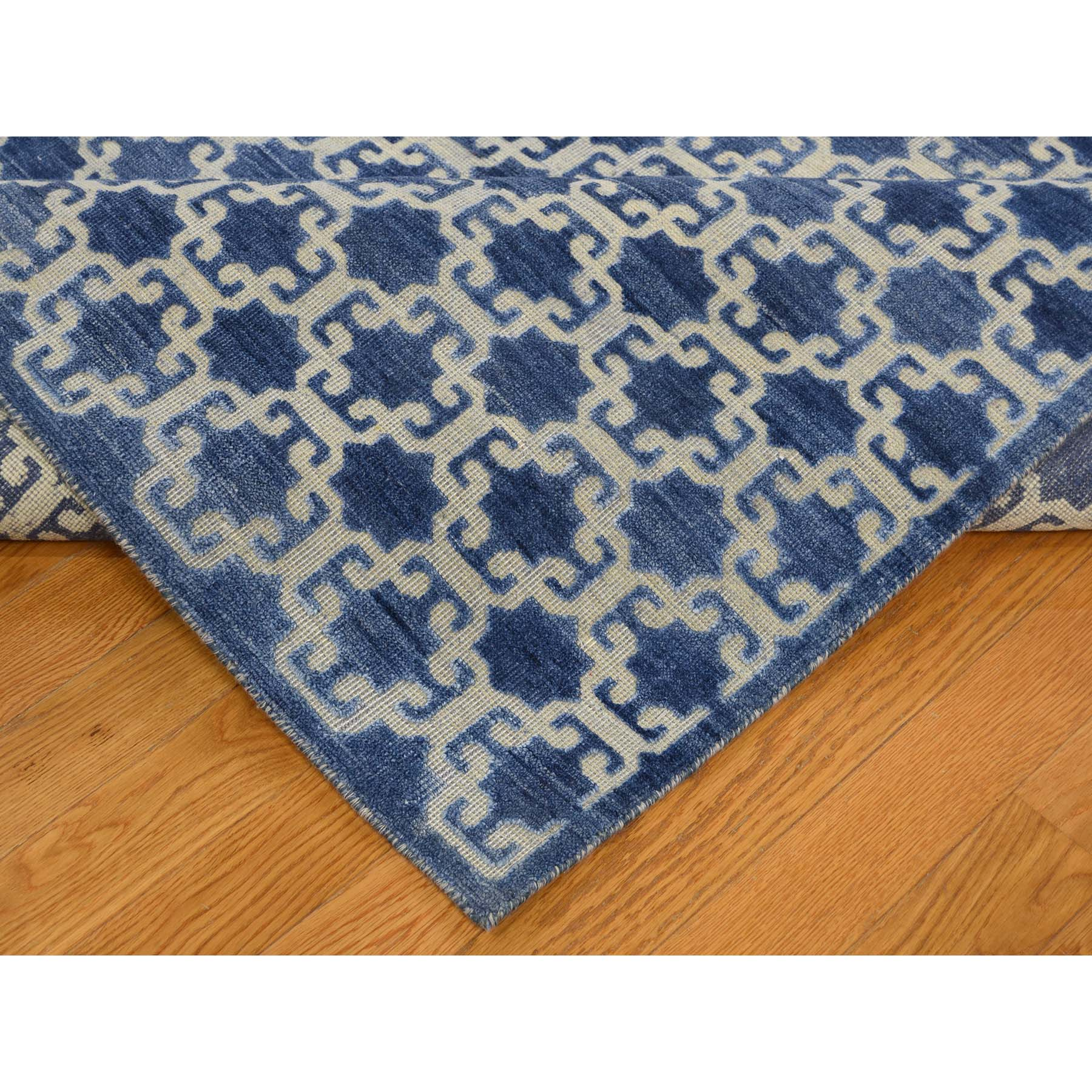 8-1 x10- Wool And Silk Star Design Hand-Knotted Oriental Rug