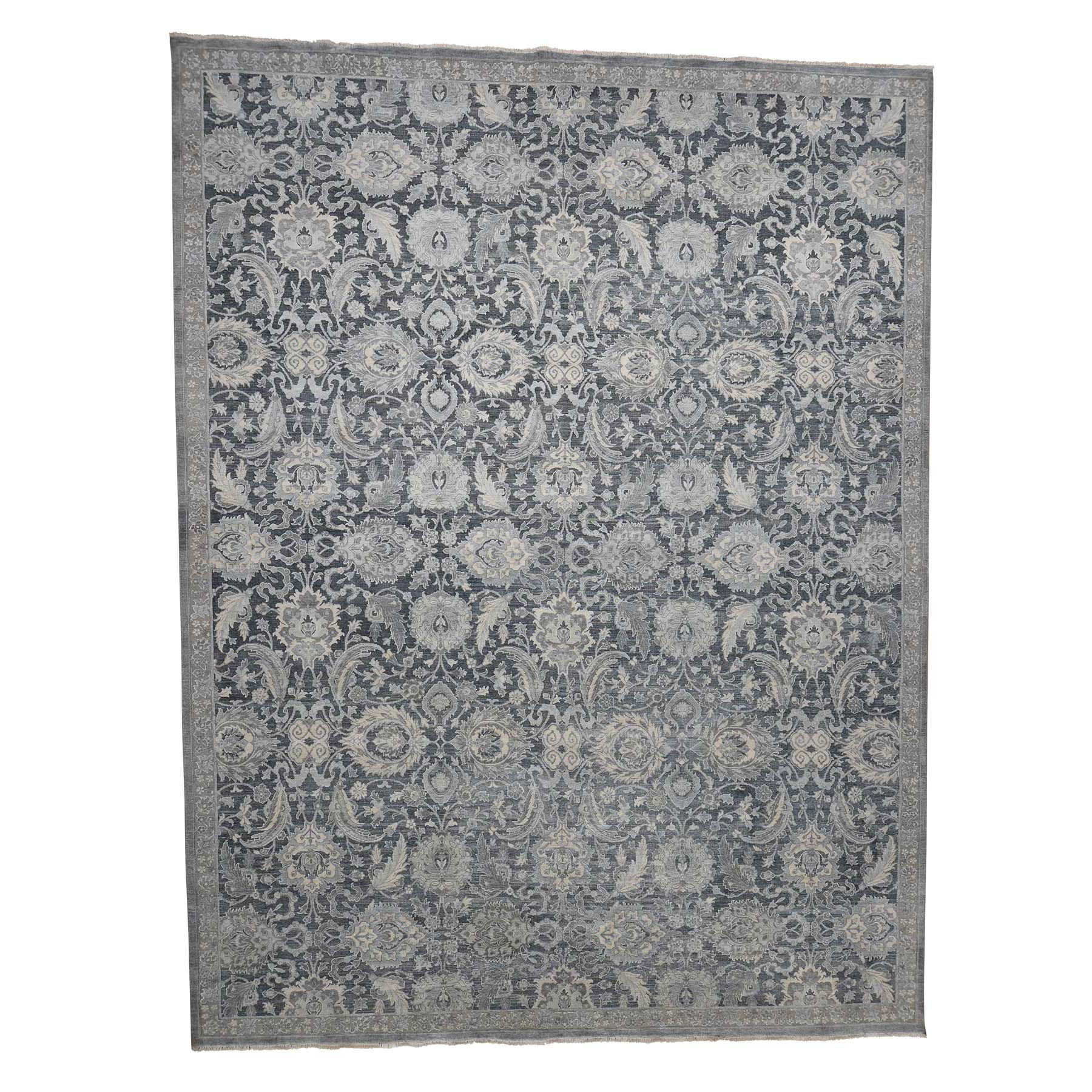 "12'X15'10"" Hand-Knotted Oushak Influence Silk With Oxidized Wool Oriental Rug moadac09"