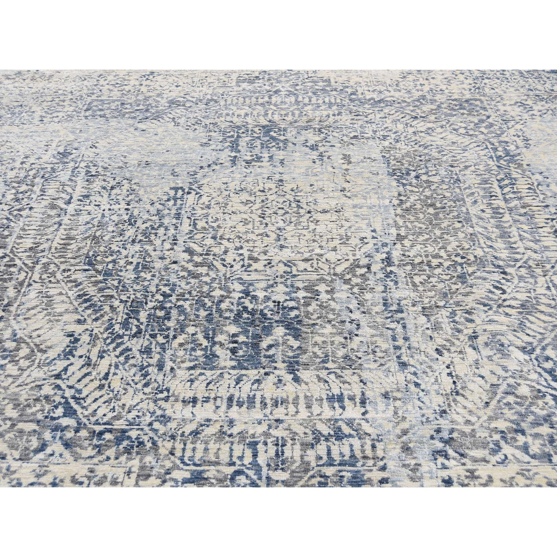 8-3 x10-2  Pure Silk With Oxidized Wool Vintage Hand Knotted Mamluk Rug