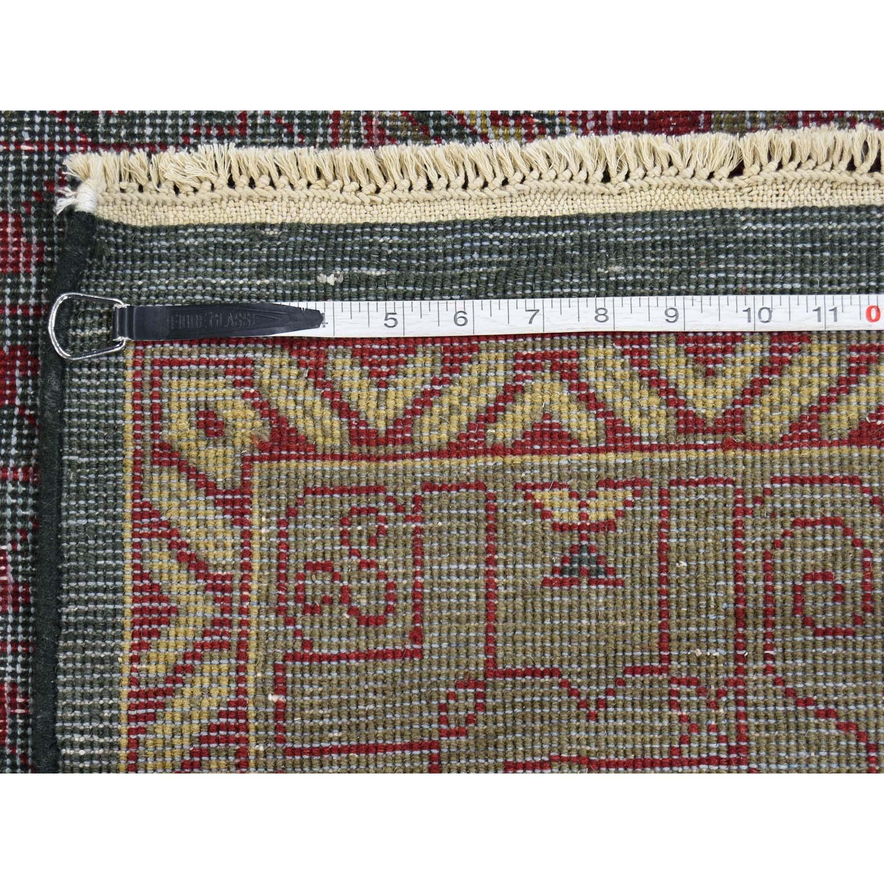 9-6 x14- Vintage Look Mamluk Zero Pile Shaved Low Worn Wool Rug