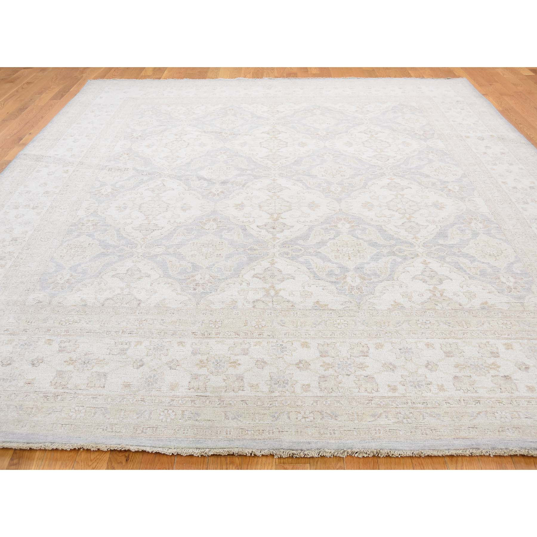 9-2 x10-9  Pure Wool Hand-Knotted Washed Out Peshawar Oriental Rug