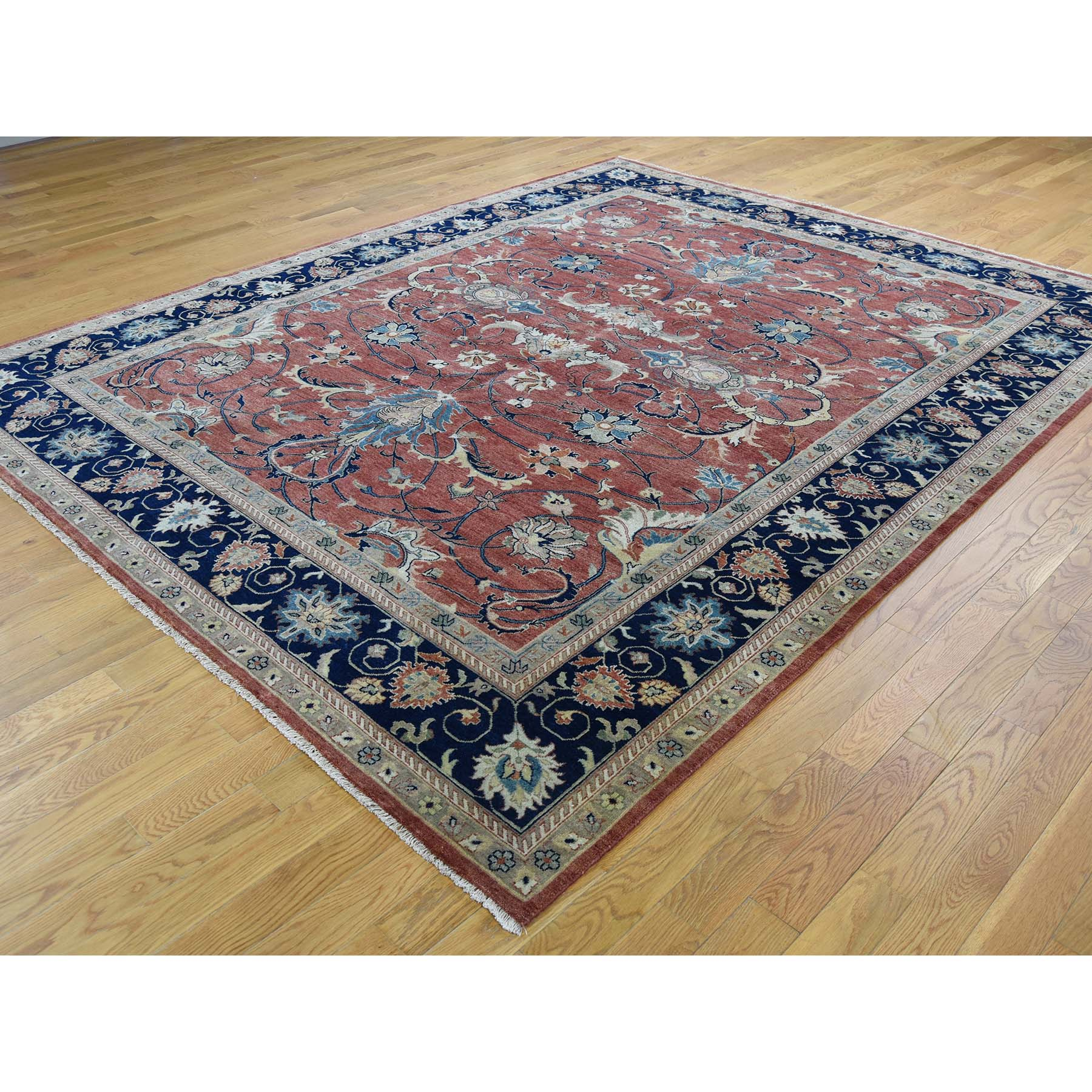 8-x10- Antiqued Heriz Re-Creation All Over Design Hand-Knotted Rug