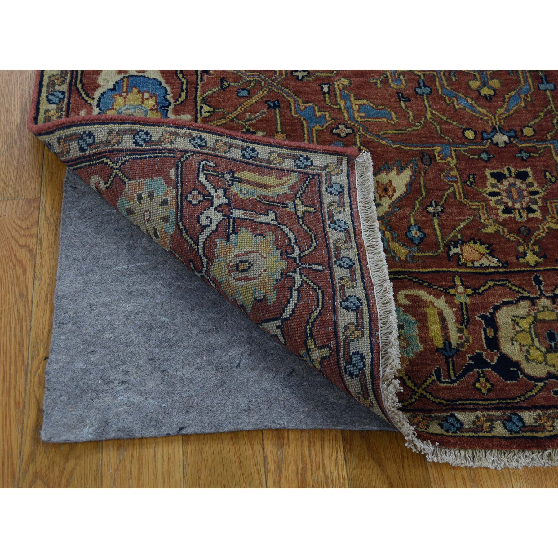 3-10 x6- Antiqued Heriz Re-Creation All Over Design Hand-Knotted Rug
