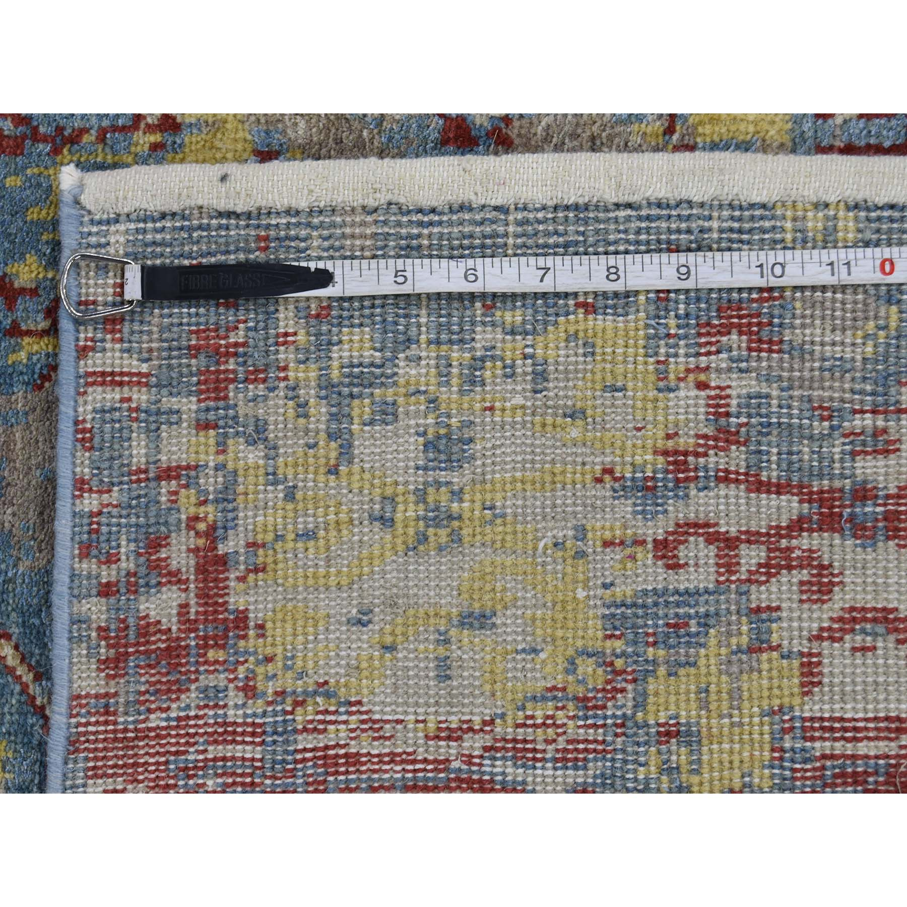 2-5 x8- Hand-Knotted Silk With Oxidized Wool Broken Design Rug