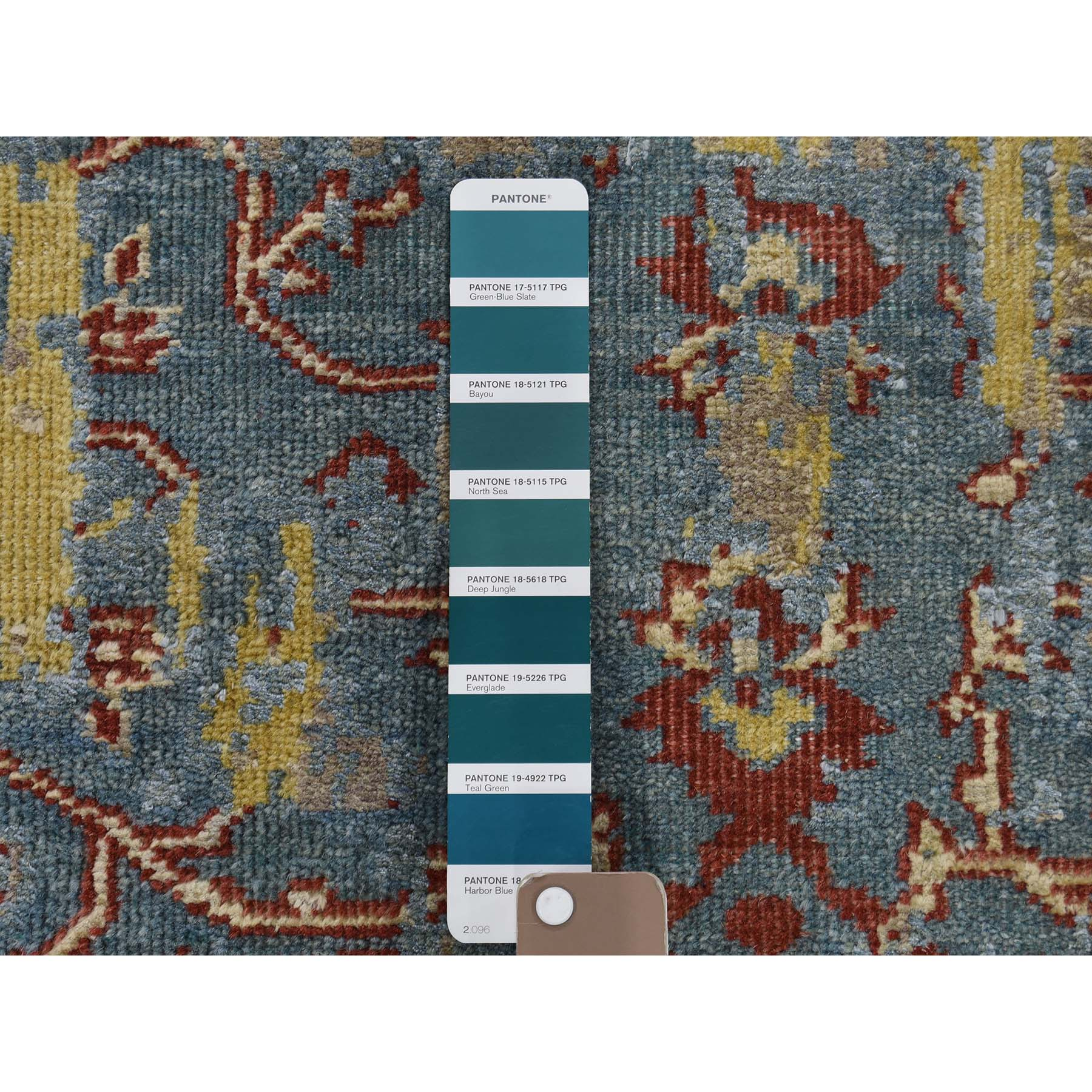 2-5 x7-10  Hand-Knotted Silk With Oxidized Wool Broken Design Rug