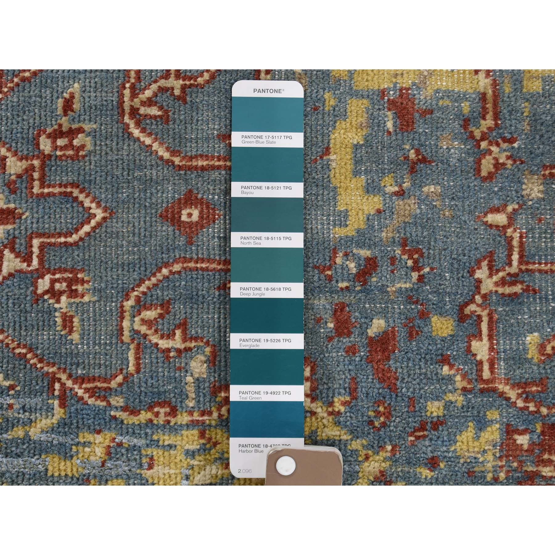 3-10 x5-10  Hand-Knotted Silk With Oxidized Wool Broken Design Rug