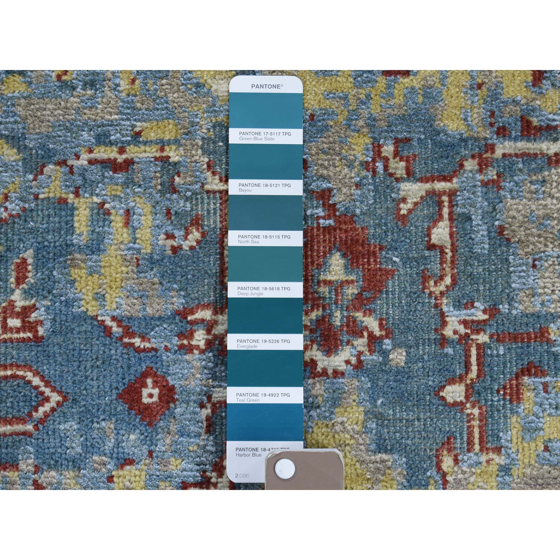 2-5 x6-1  Hand-Knotted Silk With Oxidized Wool Broken Design Runner Rug