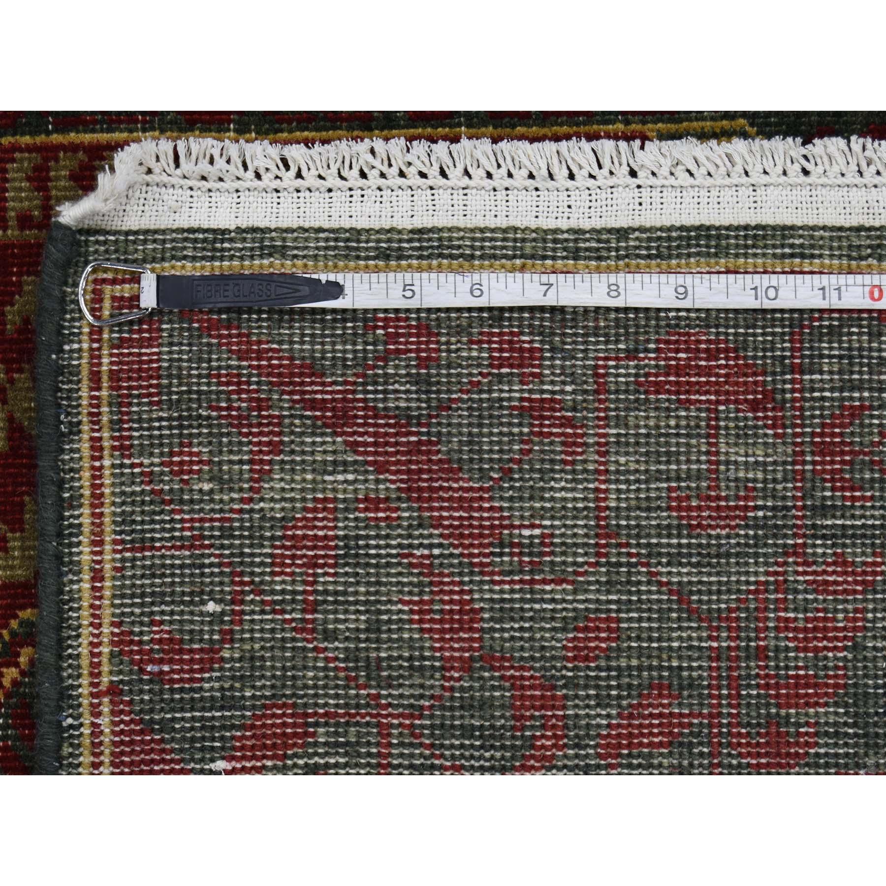 3-x4-9  Vintage Look Mamluk Zero Pile Shaved Low Worn Wool Rug