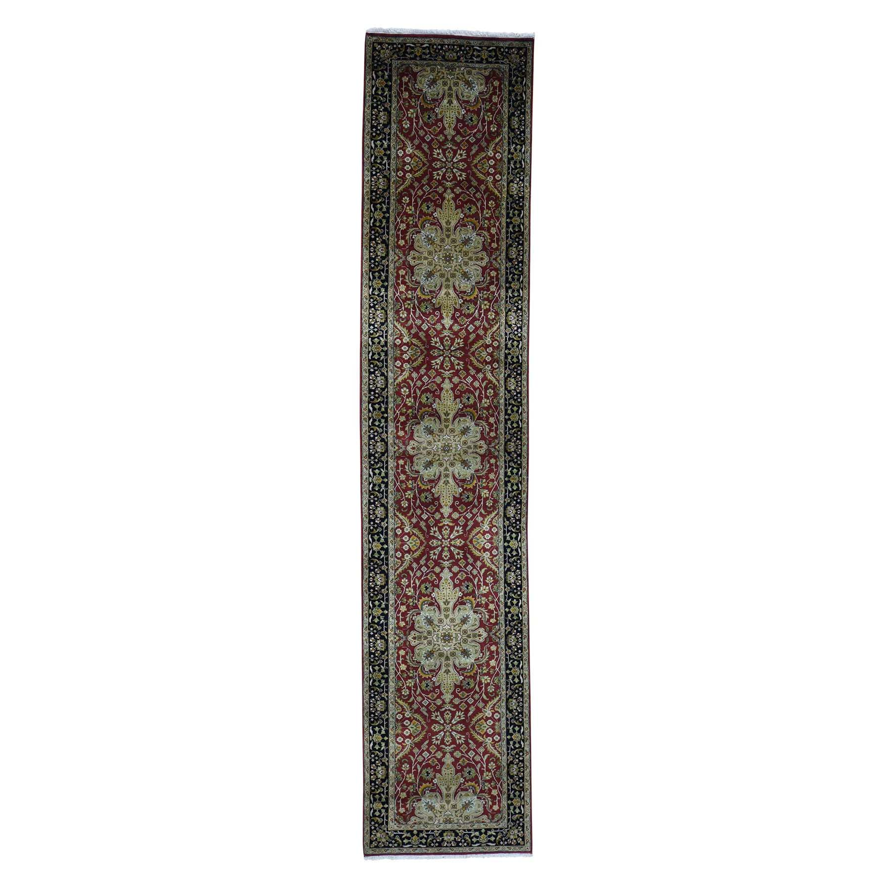 "2'6""X12' Runner 300 Kpsi Kashan Revival New Zealand Wool Oriental Rug moadad0b"