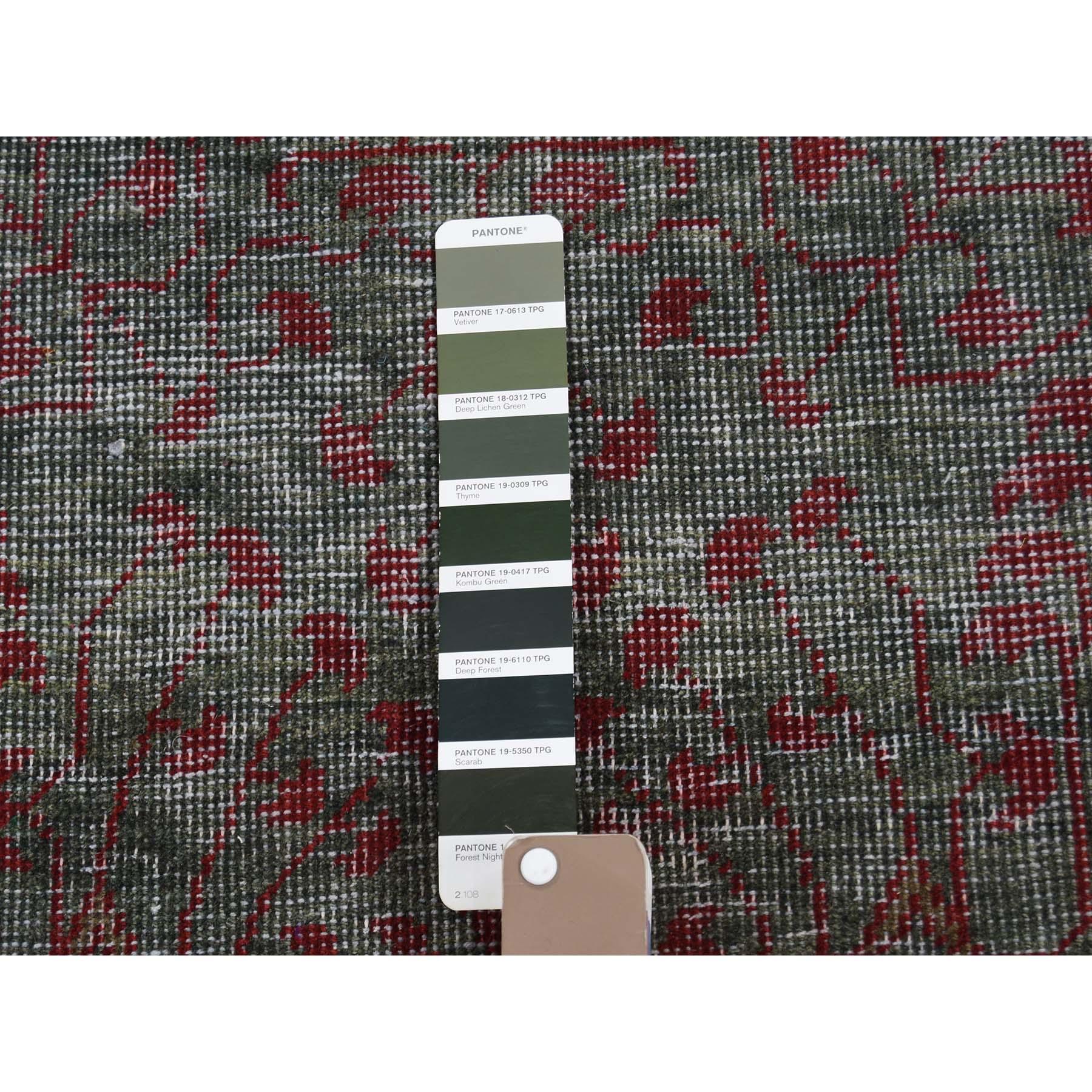 2-5 x8-2  Vintage Look Mamluk Zero Pile Shaved Low Worn Wool Runner Rug