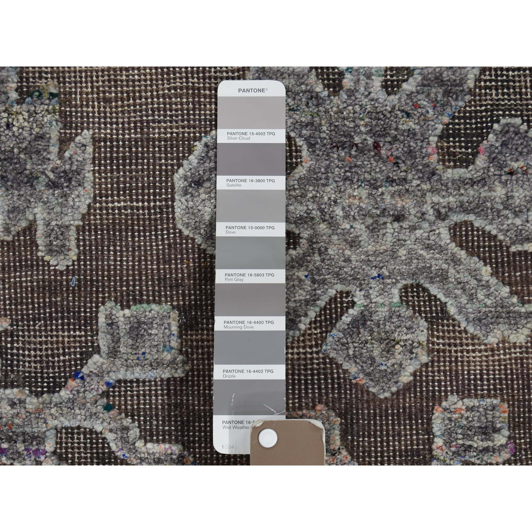 8-10 x12- Chocolate Brown Art Silk And Oxidized Wool Hand-Knotted Oriental Rug