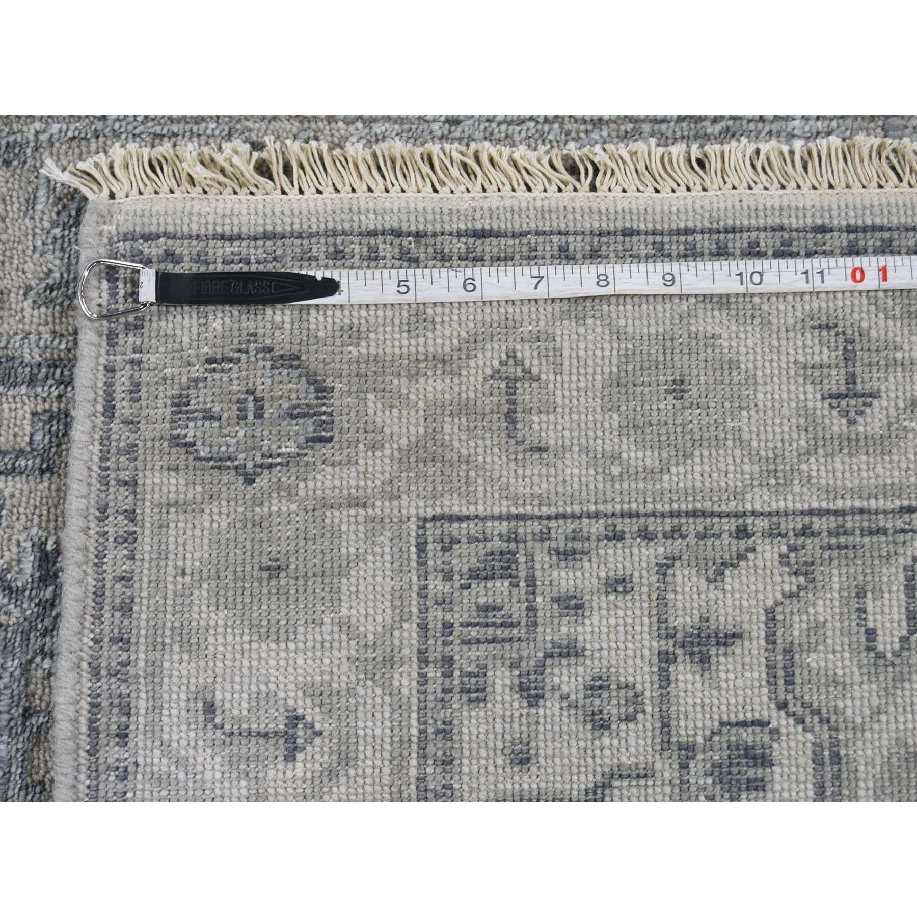 2-6 x6-1  Wool And Silk Heriz Design Grey Hand-Knotted Oriental Rug
