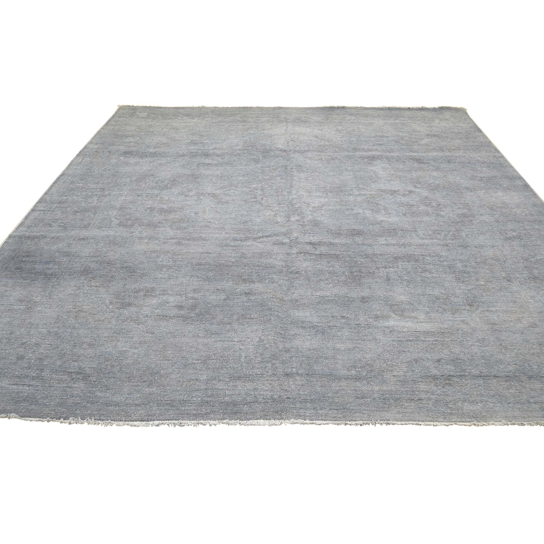 "7'9""X9'10"" Overdyed Mahal Not Worn Grey Hand-Knotted Pure Wool Oriental Rug moadae80"