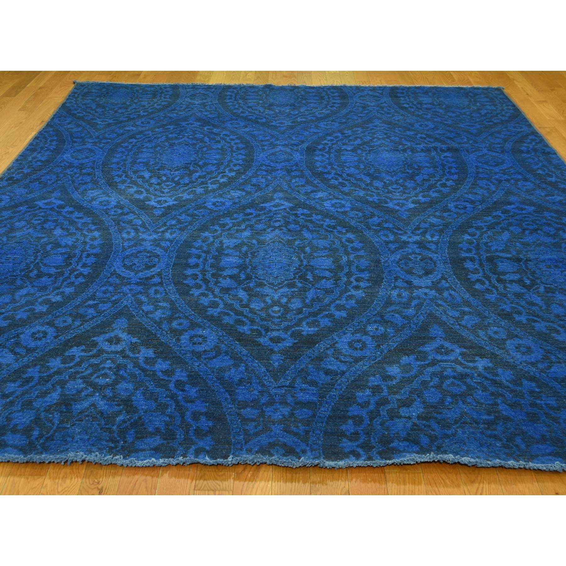 8-x10- Overdyed With Large Paisley Design Hand-Knotted Oriental Rug