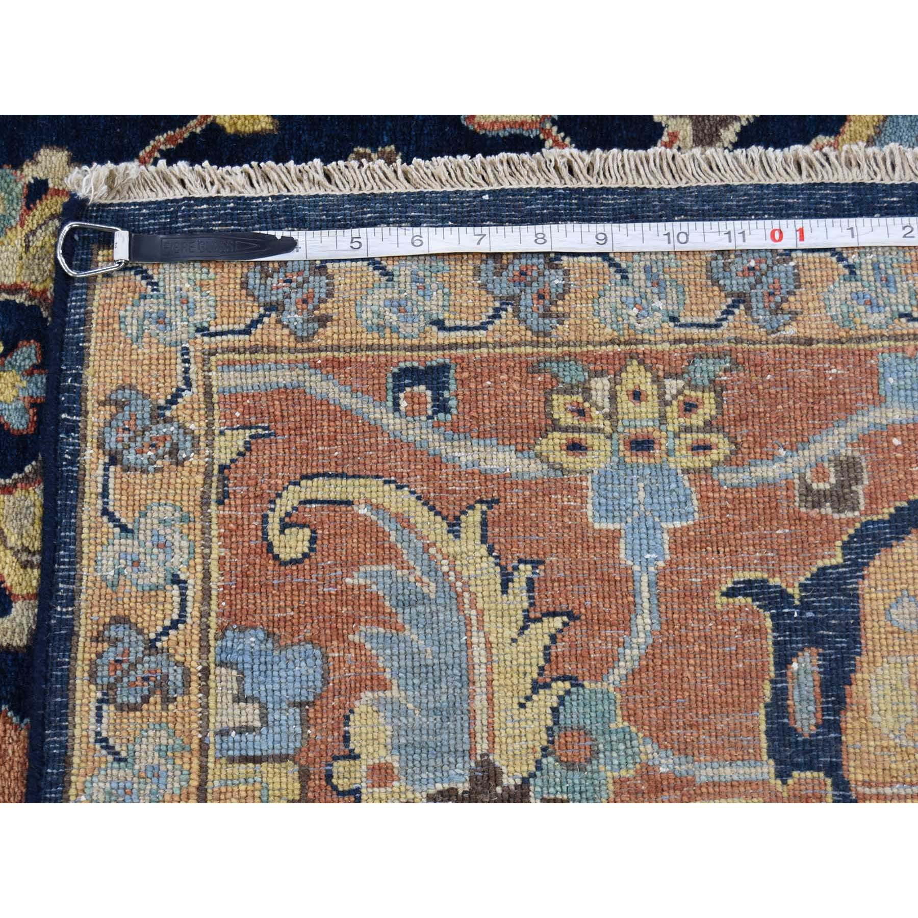 8-10 x11-10  Antiqued Heriz All Over Design Pure Wool Hand-Knotted Oriental Rug