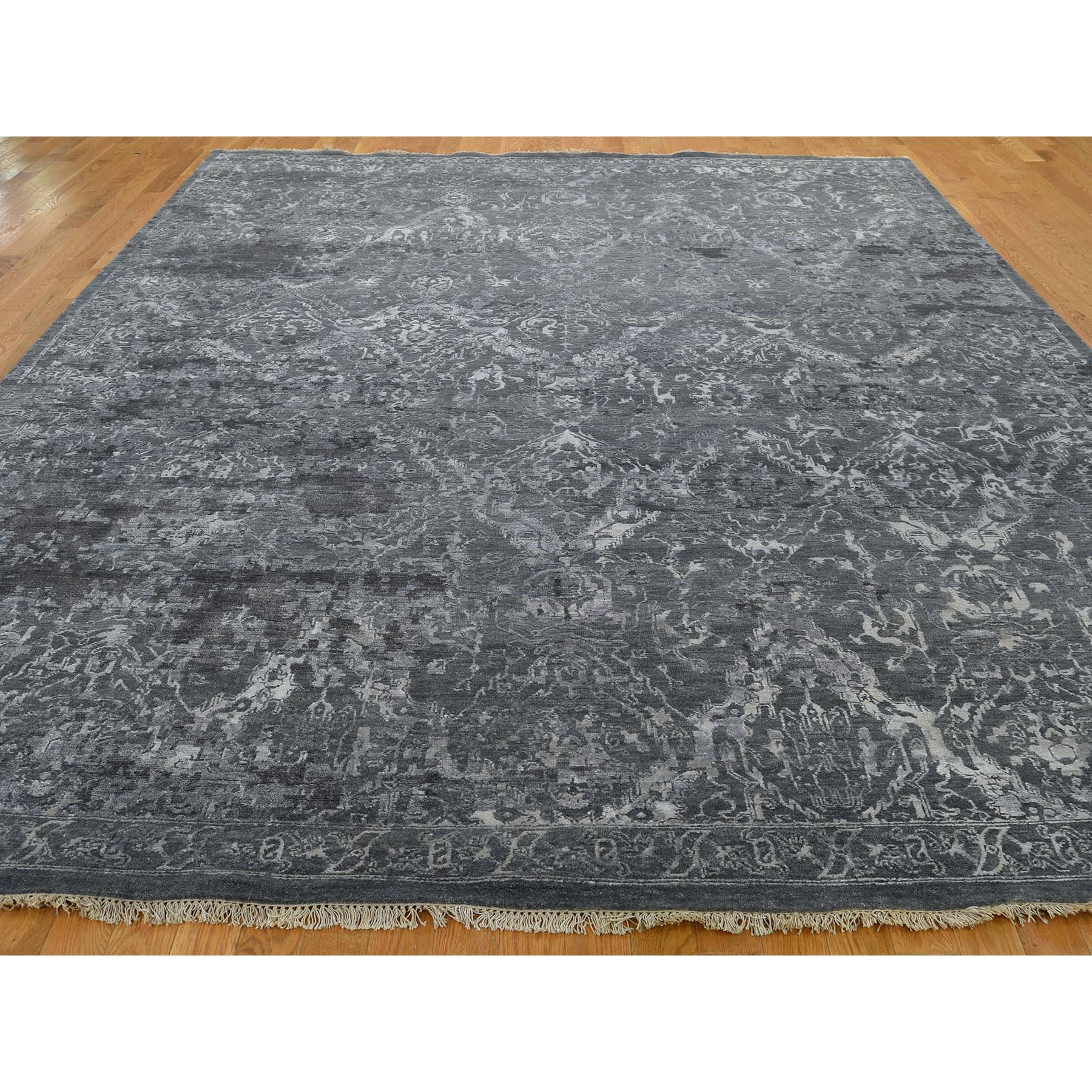 9-x11-9  Broken Persian Design Wool And Silk Hand-Knotted Oriental Rug