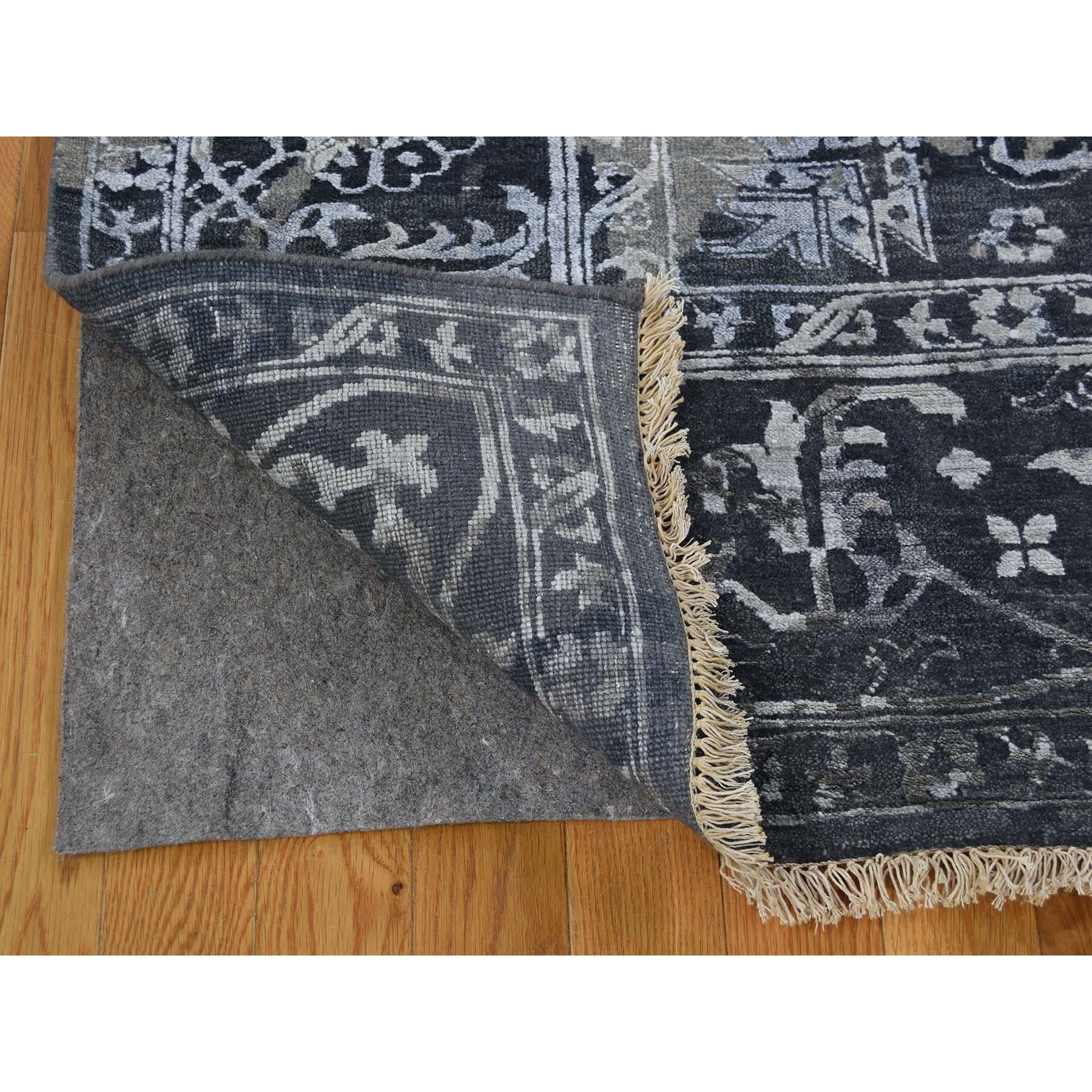8-x10-1  All Over Design Broken Persian Heriz Wool And Silk Hand-Knotted Oriental Rug