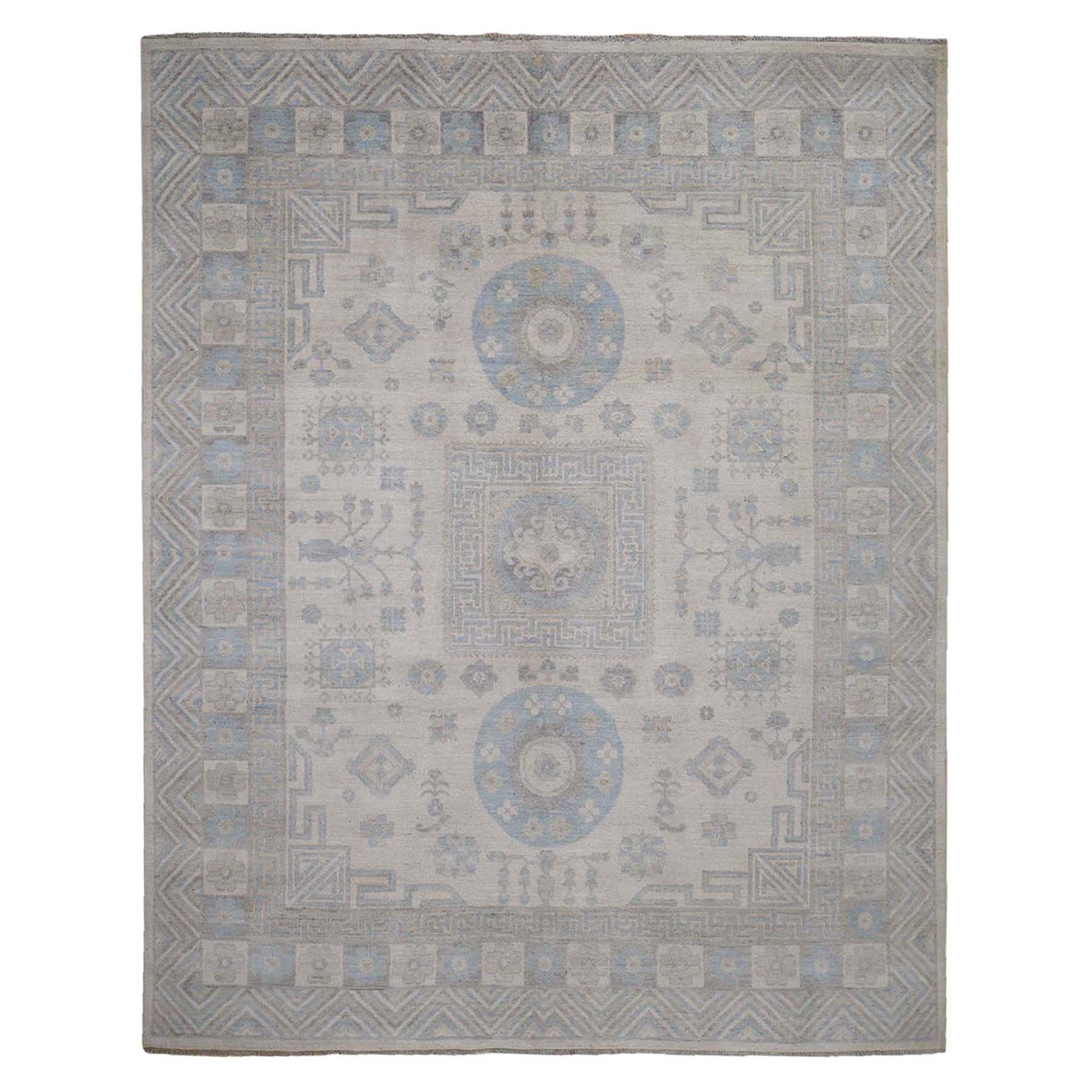 "8'1""X9'9"" Khotan Pure Wool Washed Out Hand-Knotted Oriental Rug moada86b"